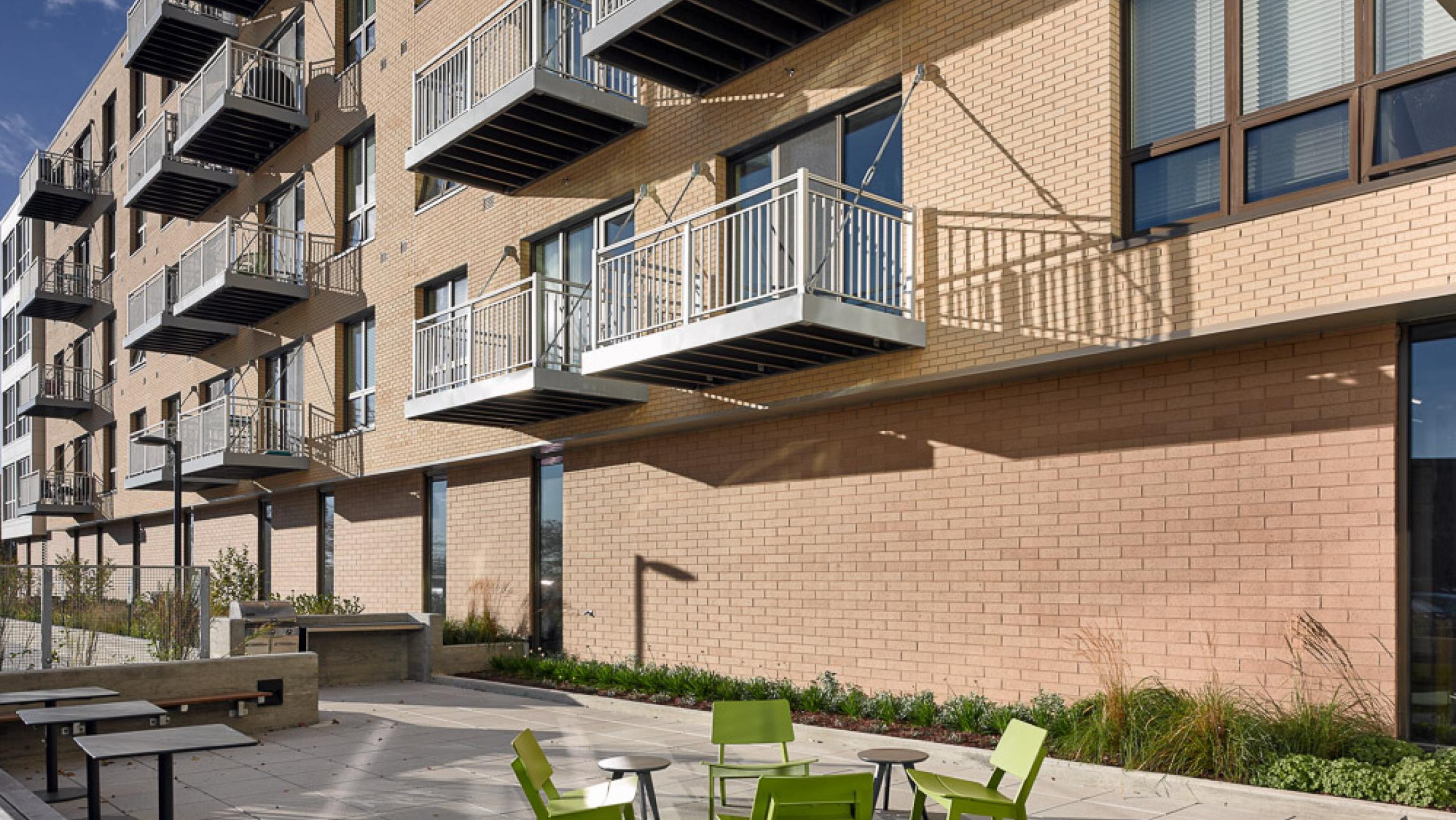 ULI Nine Line Apartments - Grill Patio with Outdoor Seating
