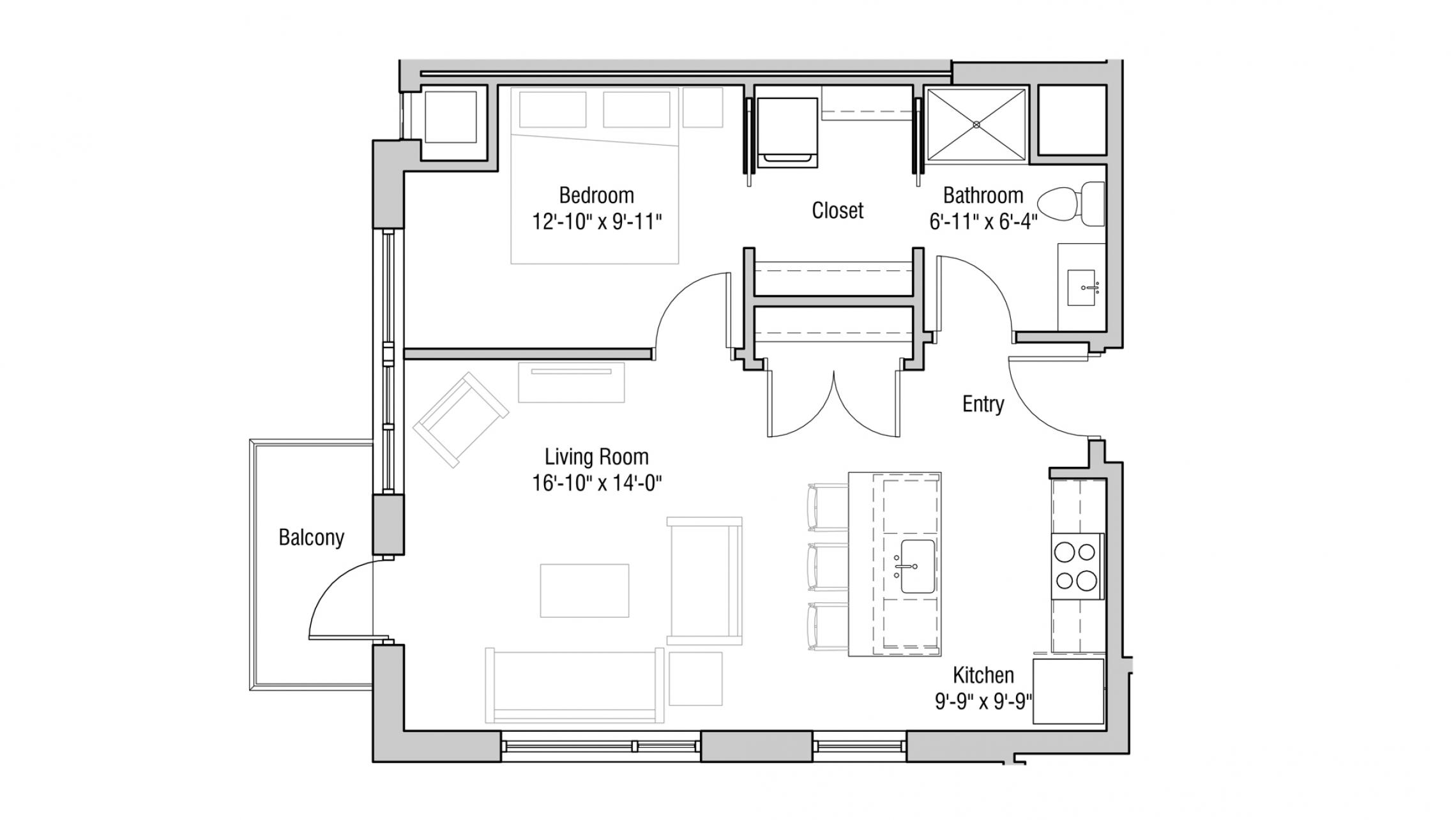 ULI Quarter Row 102 - One Bedroom, One Bathroom