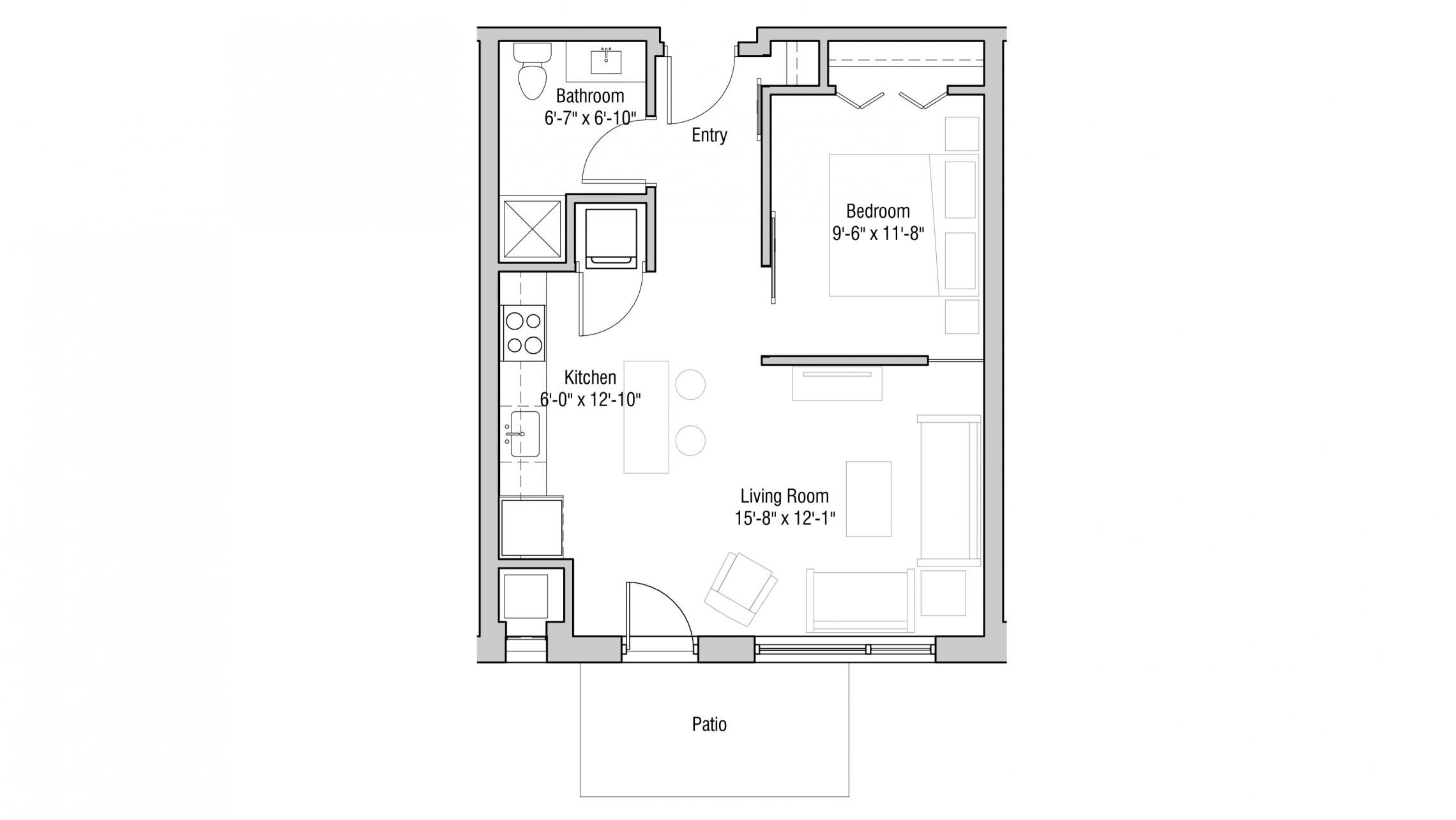 ULI Quarter Row 103 - One Bedroom, One Bathroom