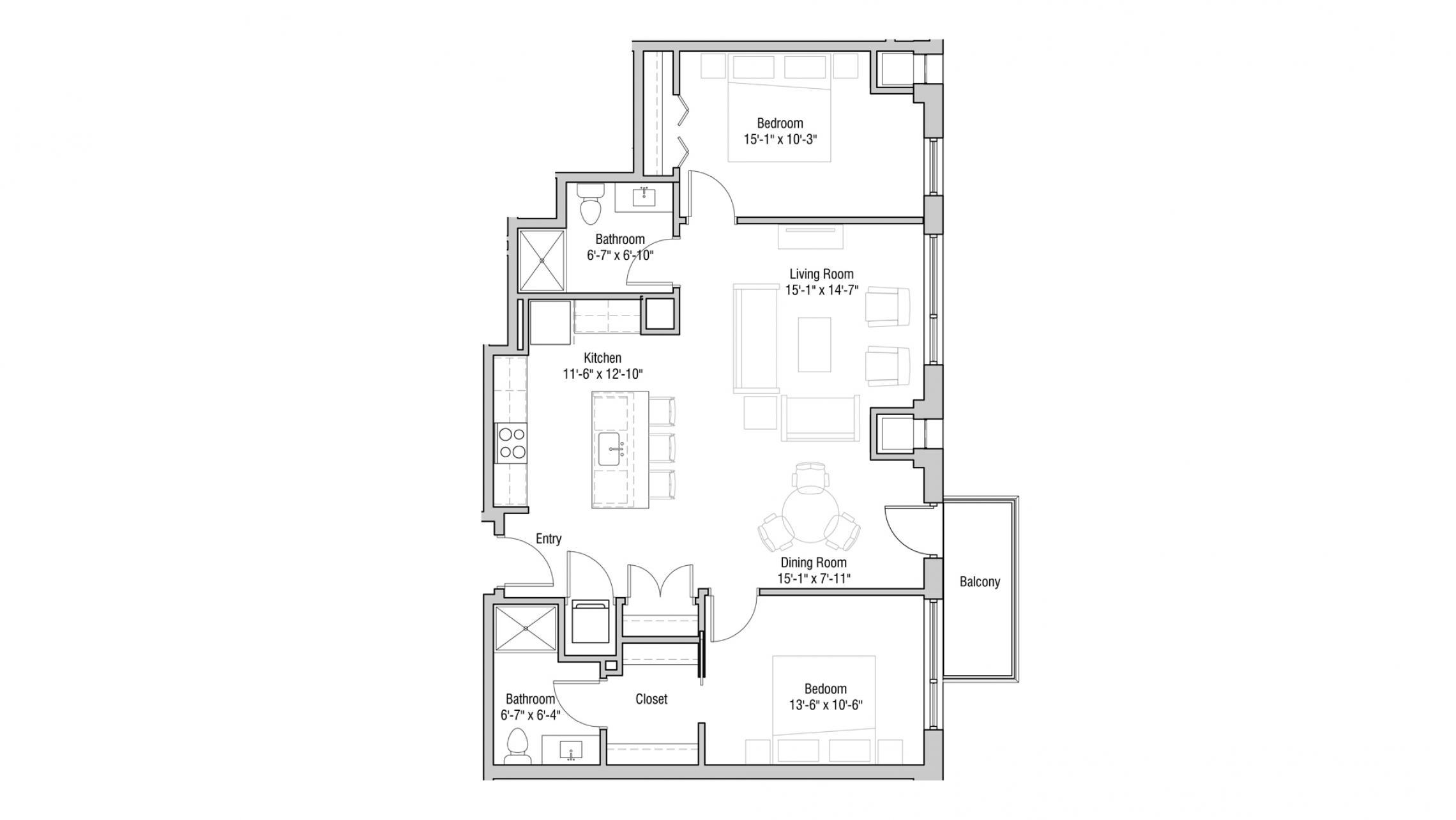 ULI Quarter Row 111 - Two Bedroom, Two Bathroom