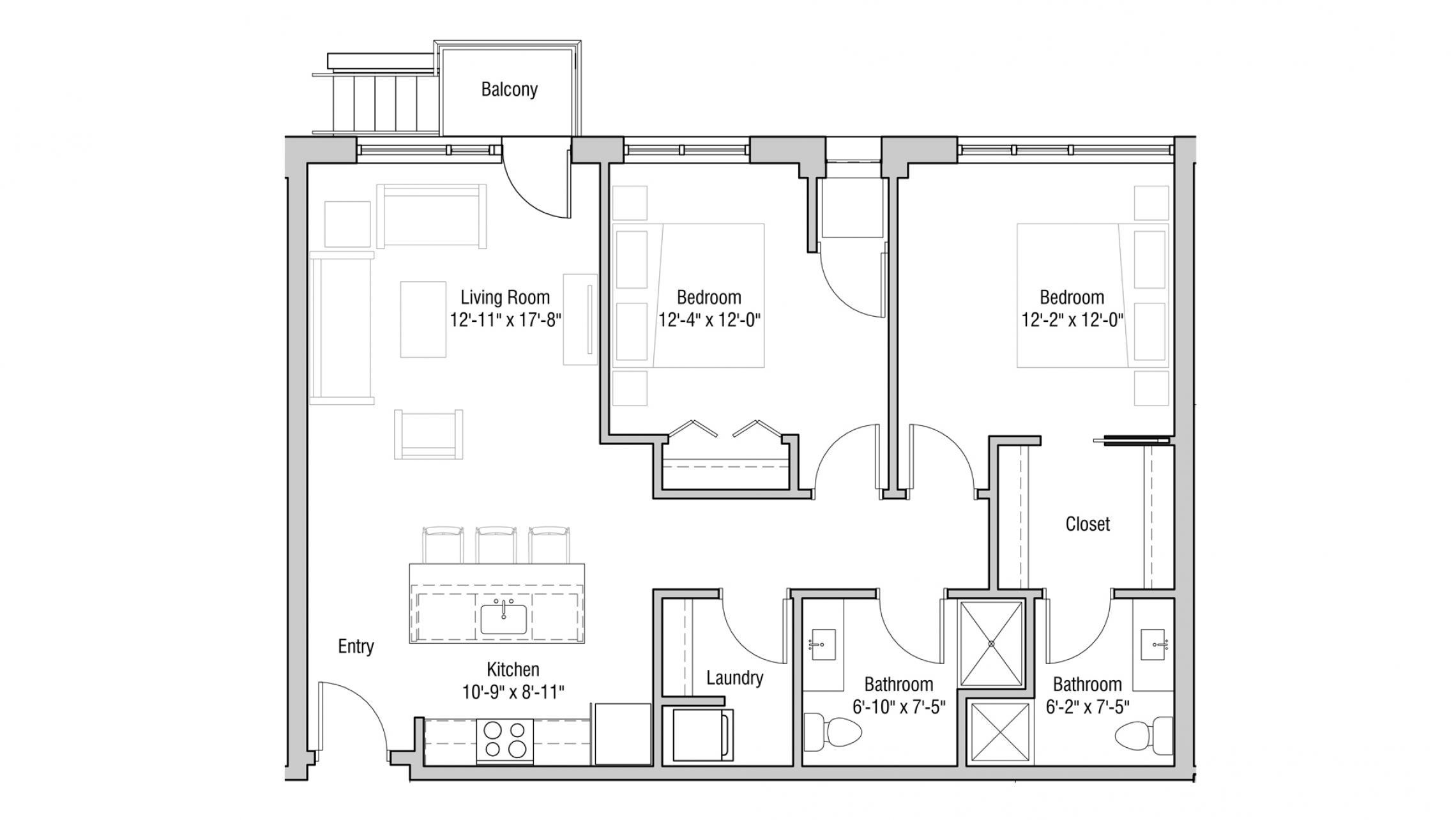 ULI Quarter Row 117 - Two Bedroom, Two Bathroom