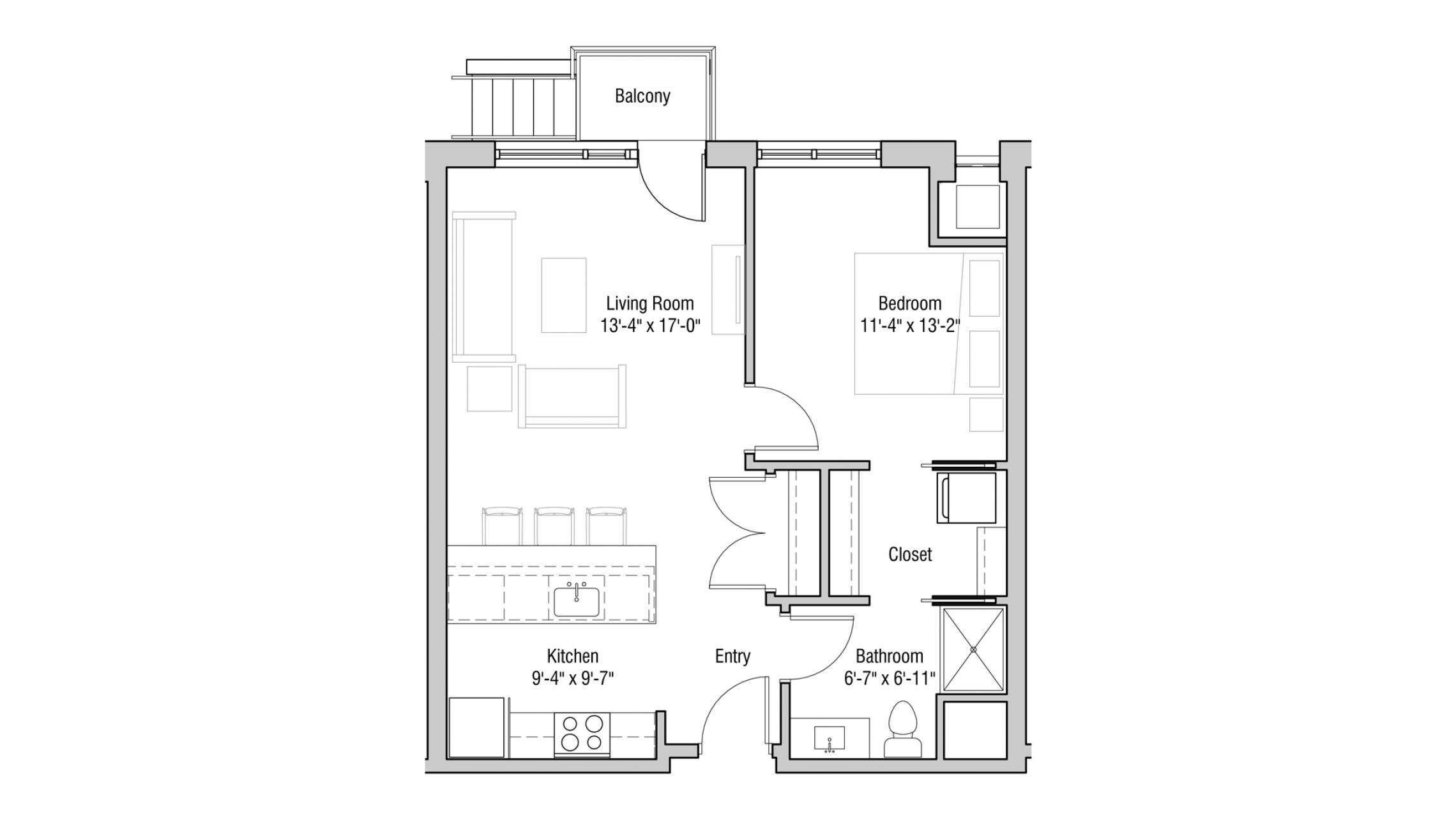 ULI Quarter Row 123 - One Bedroom, One Bathroom
