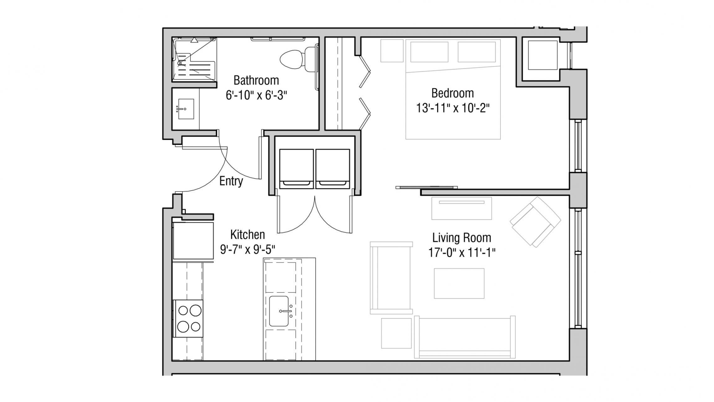 ULI Quarter Row 213 - One Bedroom, One Bathroom