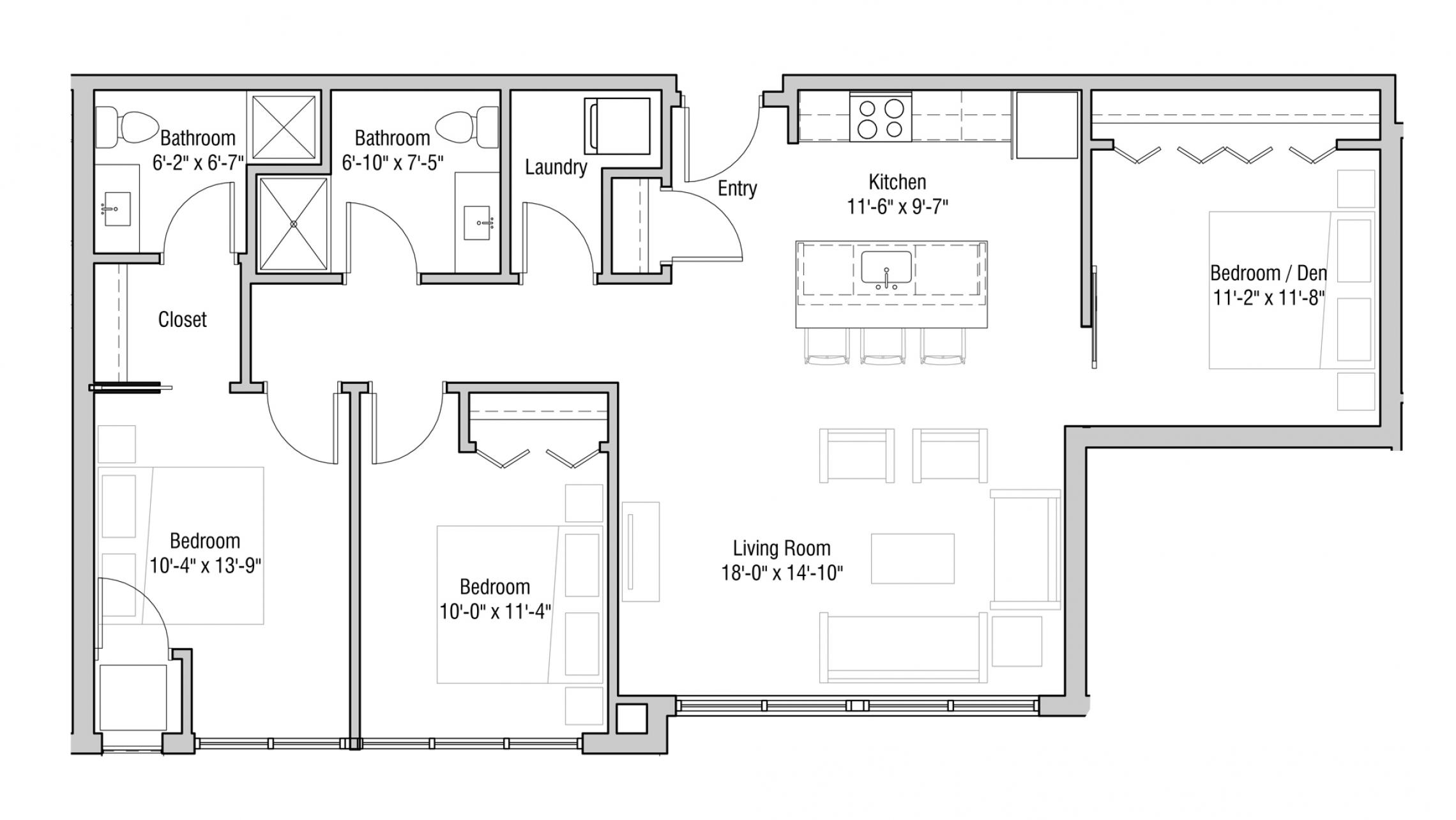 ULI Quarter Row 316 - Two Bedroom, Two Bathroom