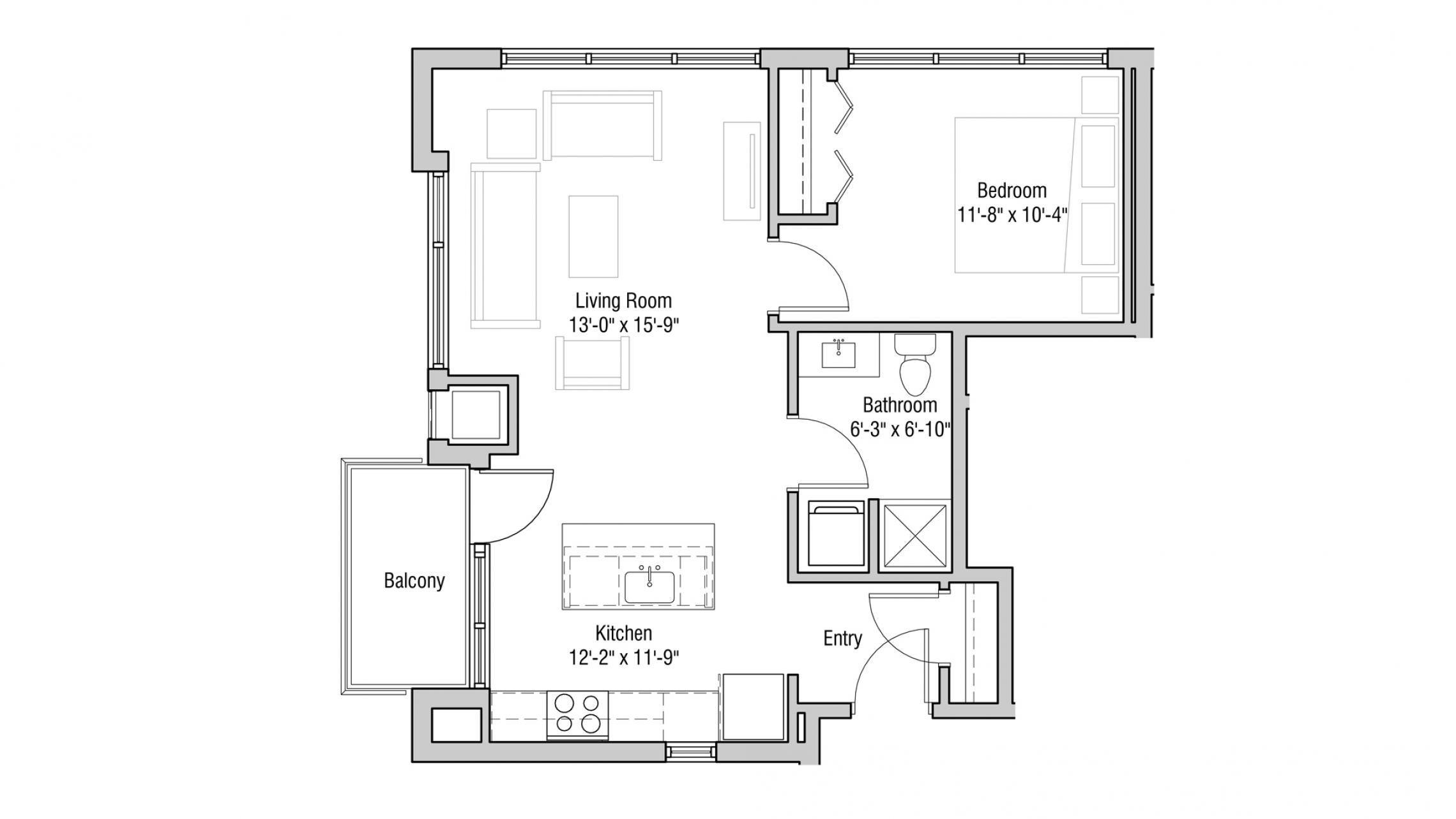 ULI Quarter Row 427 - One Bedroom, One Bathroom