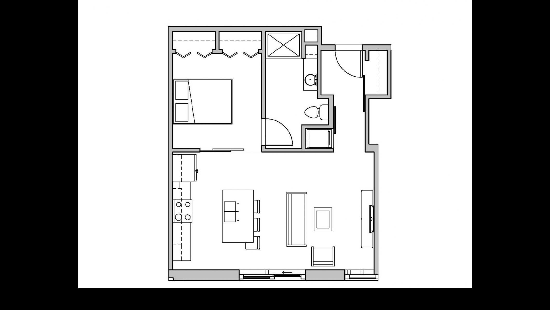 ULI Seven27 113 - One Bedroom, One Bathroom