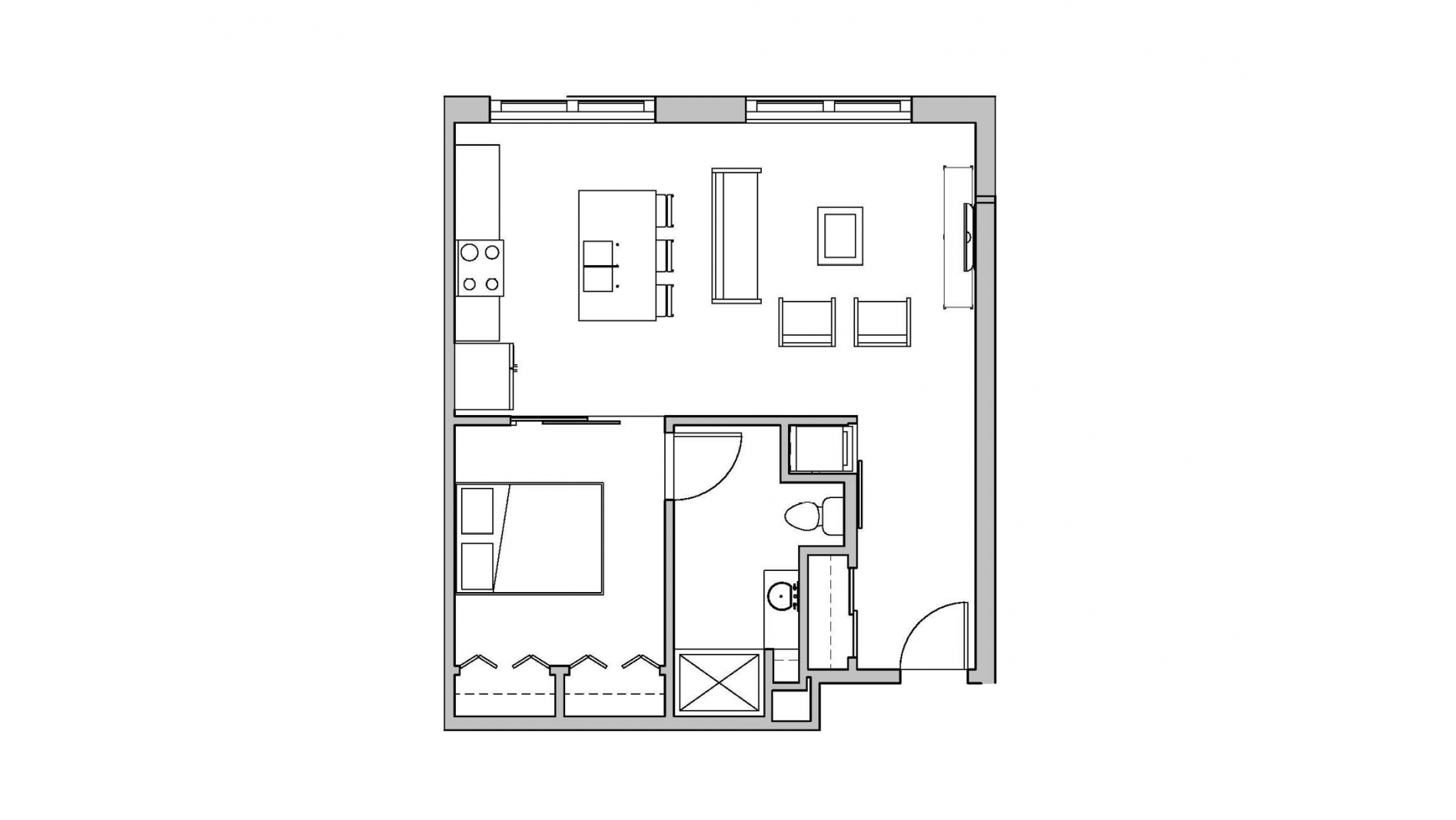 ULI Seven27 118 - One Bedroom, One Bathroom