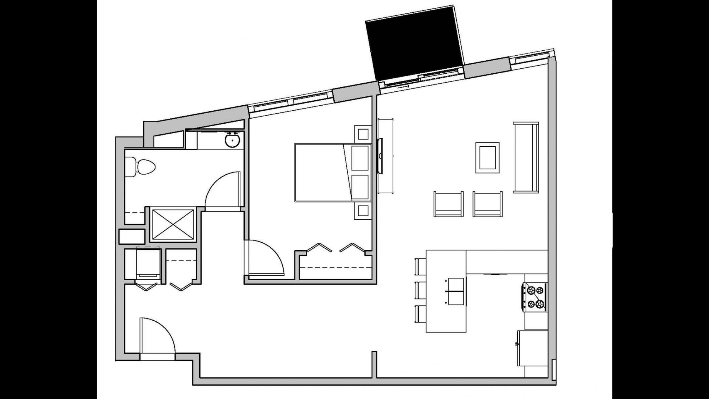 ULI Seven27 205 - One Bedroom, One Bathroom