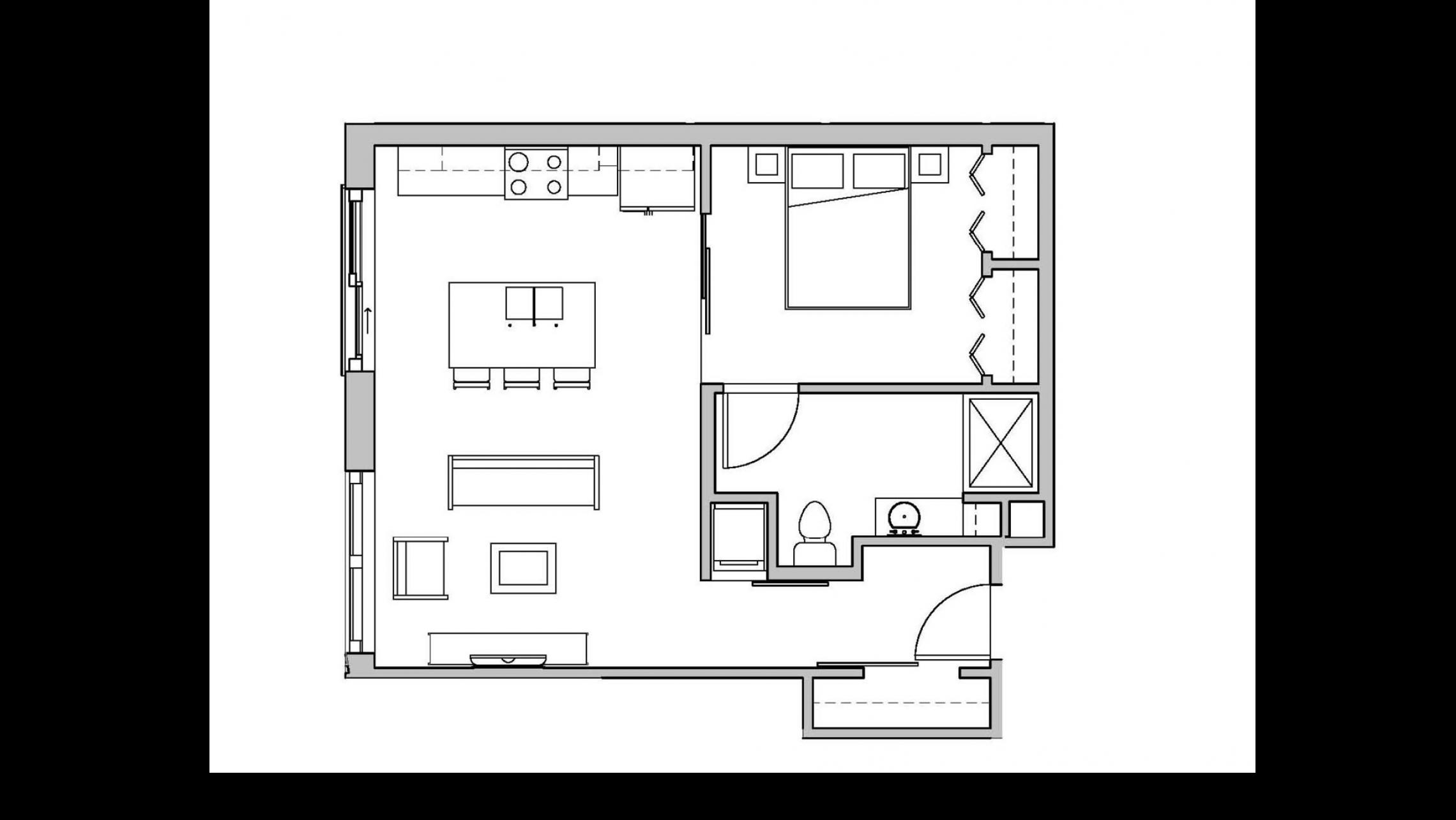 ULI Seven27 208 - One Bedroom, One Bathroom