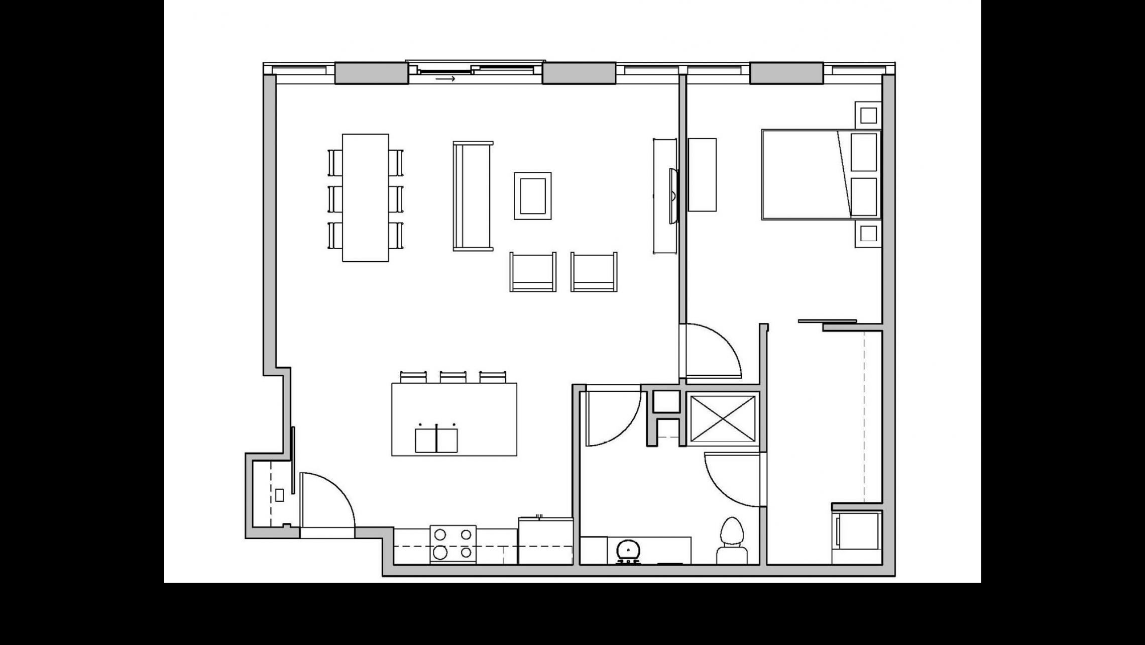 ULI Seven27 216 - One Bedroom, One Bathroom