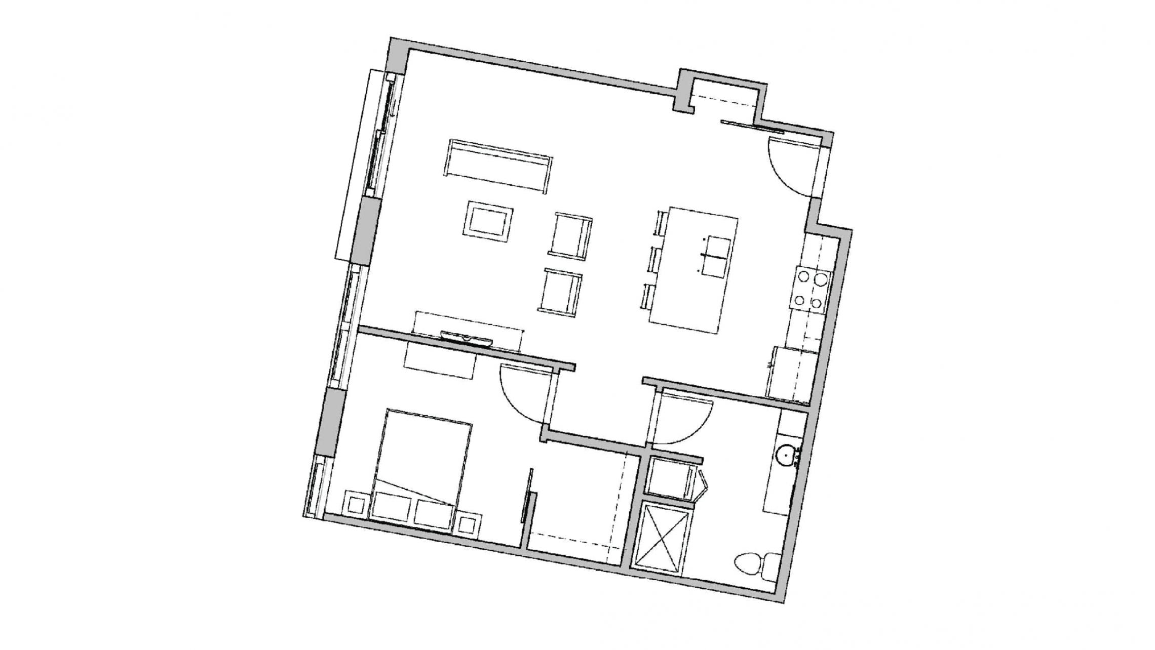 ULI Seven27 231 - One Bedroom, One Bathroom