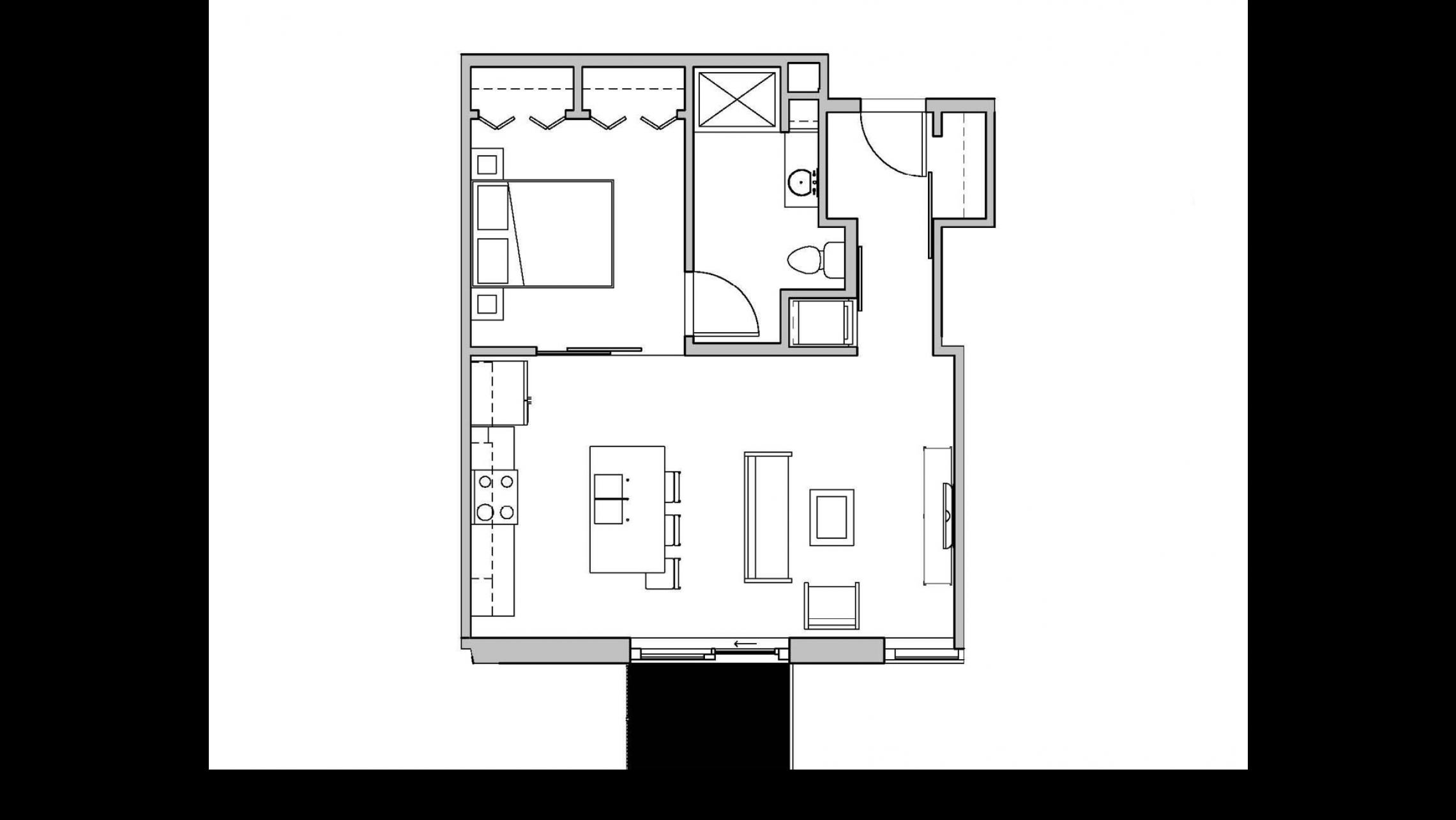 ULI Seven27 313 - One Bedroom, One Bathroom