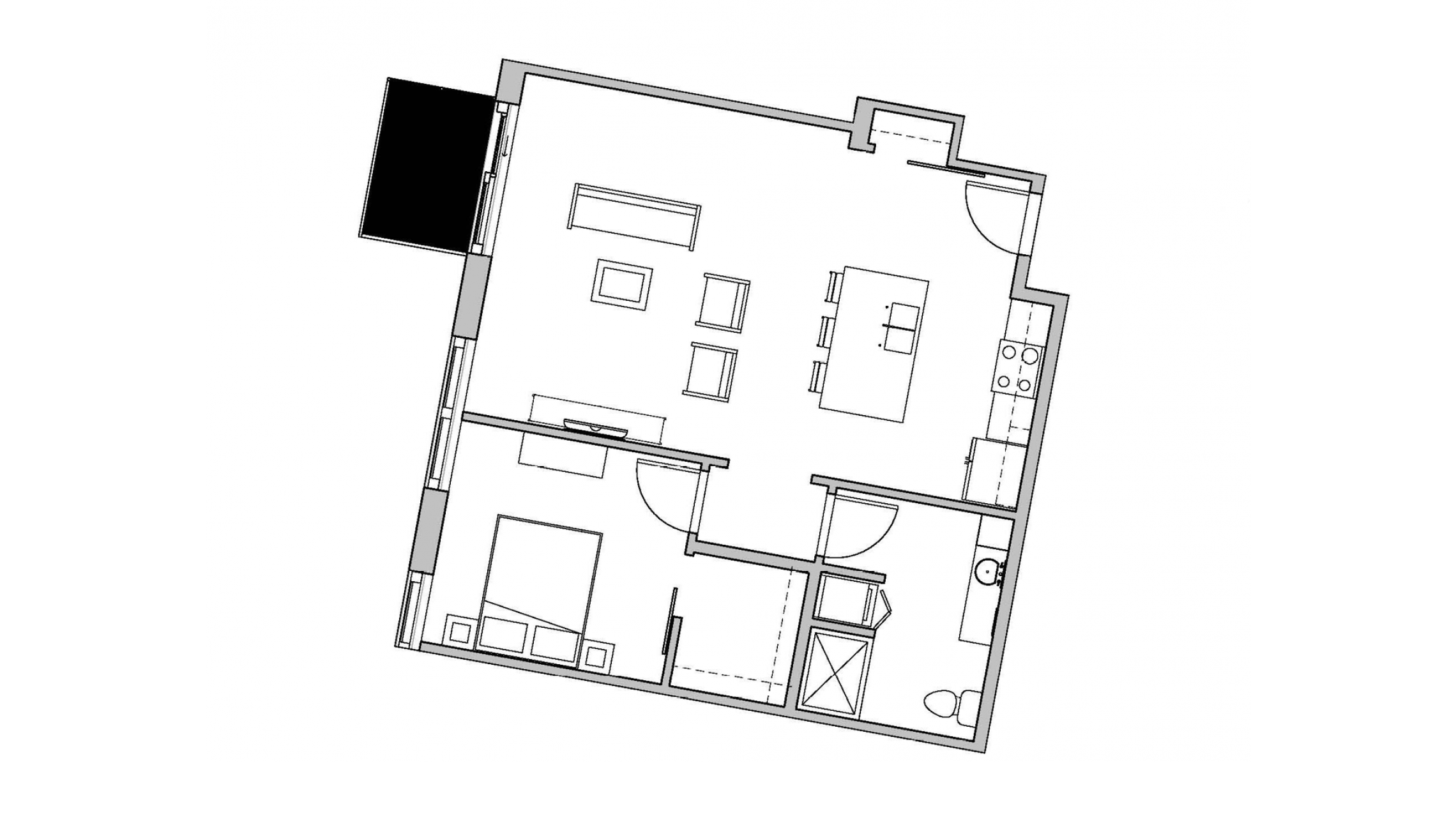 ULI Seven27 314 - One Bedroom, One Bathroom
