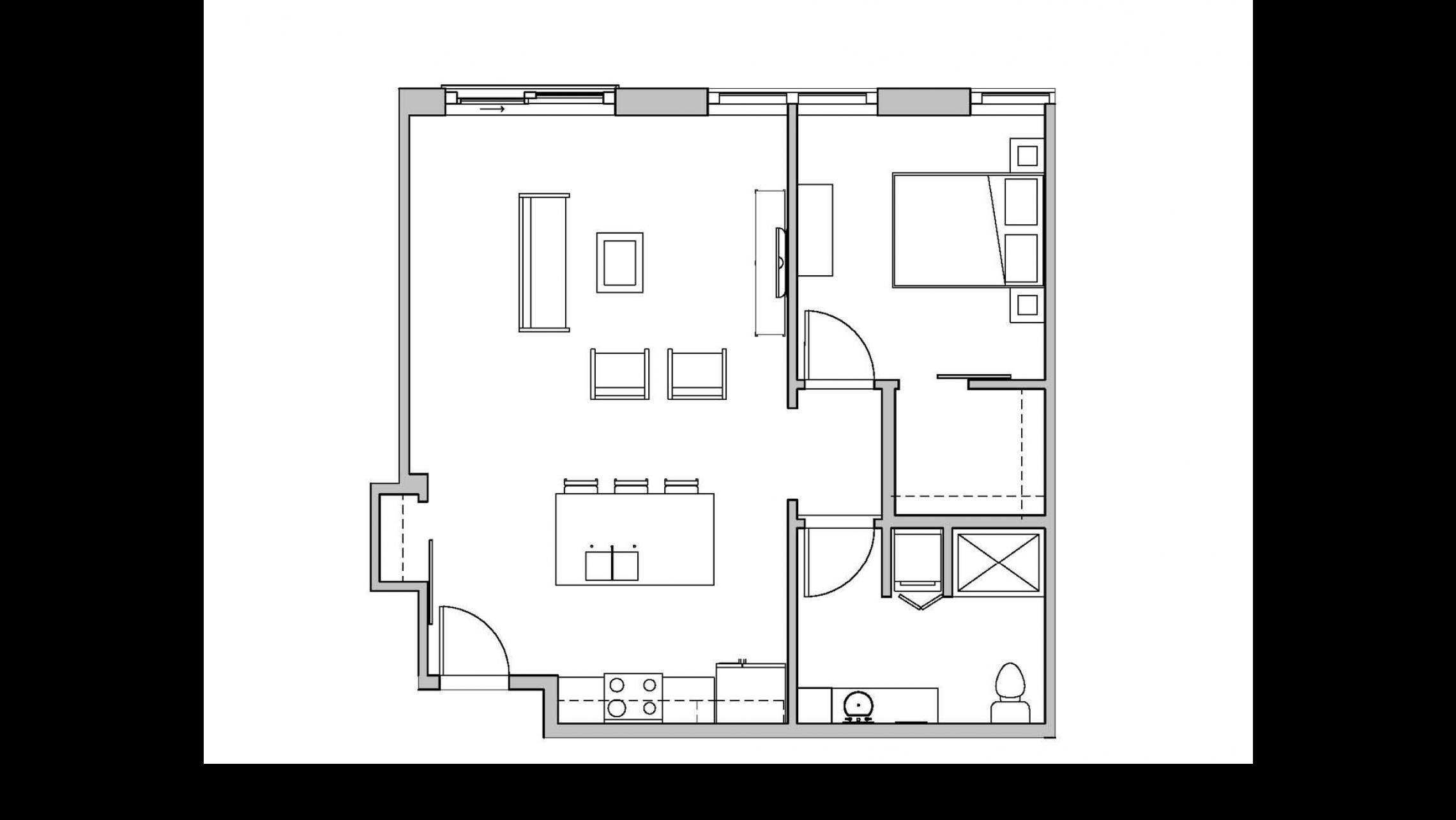 ULI Seven27 319 - One Bedroom, One Bathroom