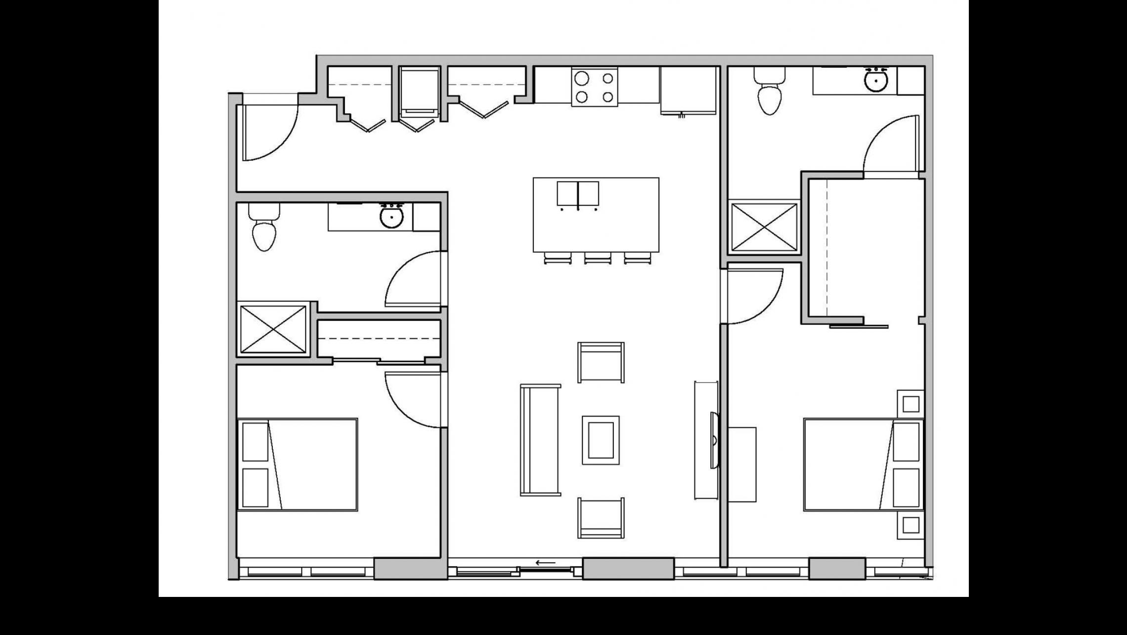 ULI Seven27 322 - Two Bedroom, Two Bathroom