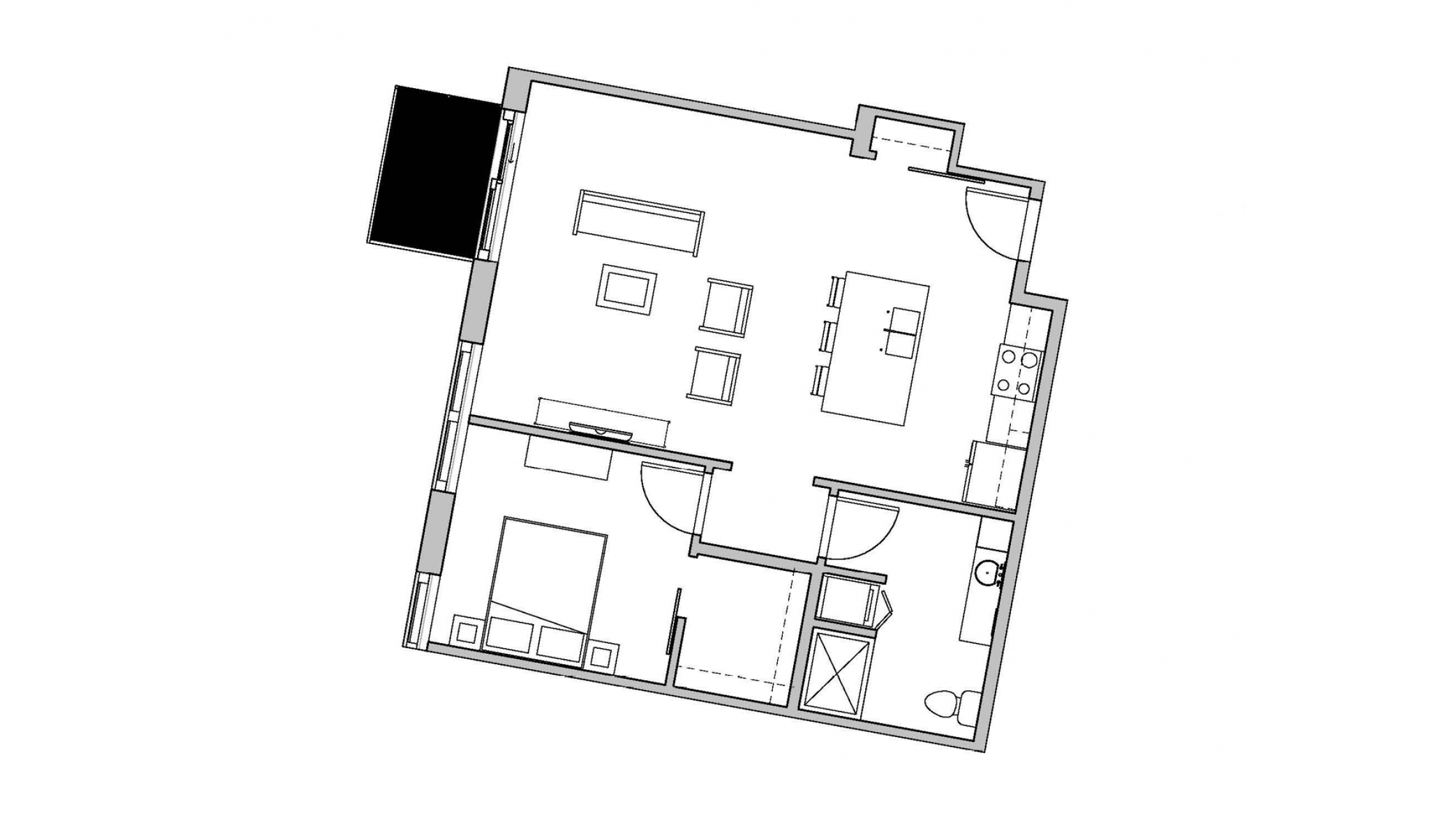 ULI Seven27 330 - One Bedroom, One Bathroom