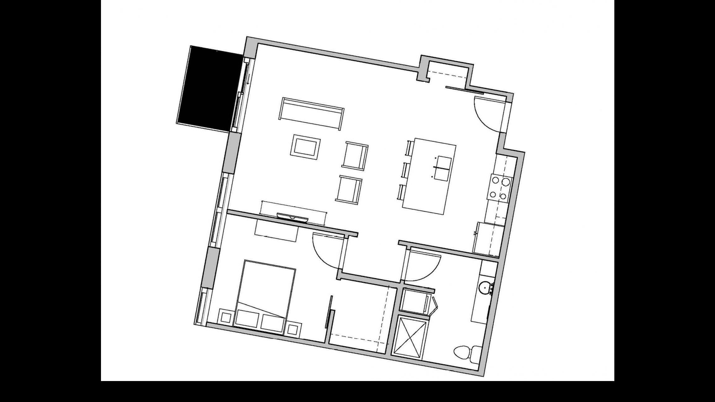 ULI Seven27 334 - One Bedroom, One Bathroom