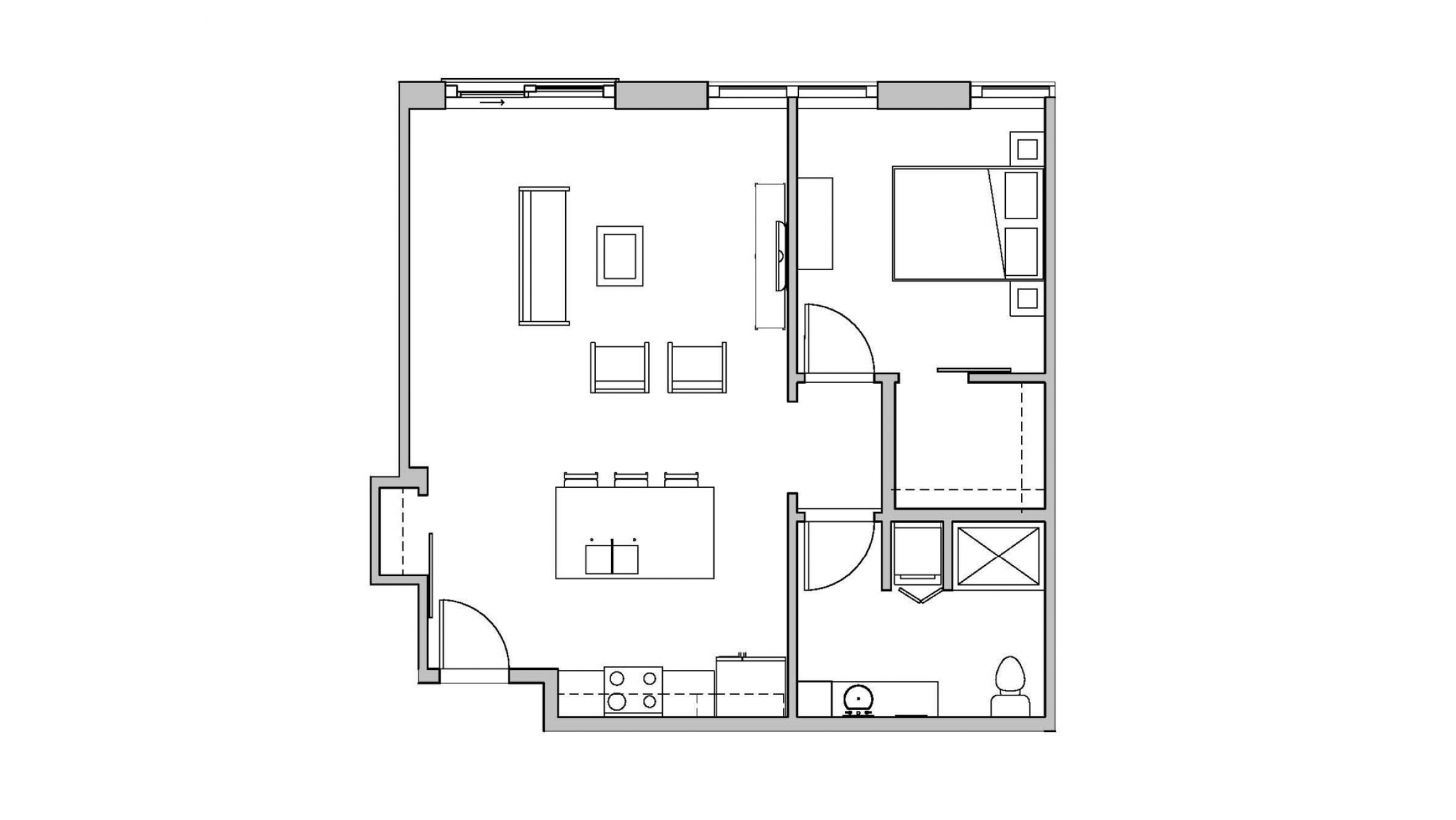 ULI Seven27 417 - One Bedroom, One Bathroom