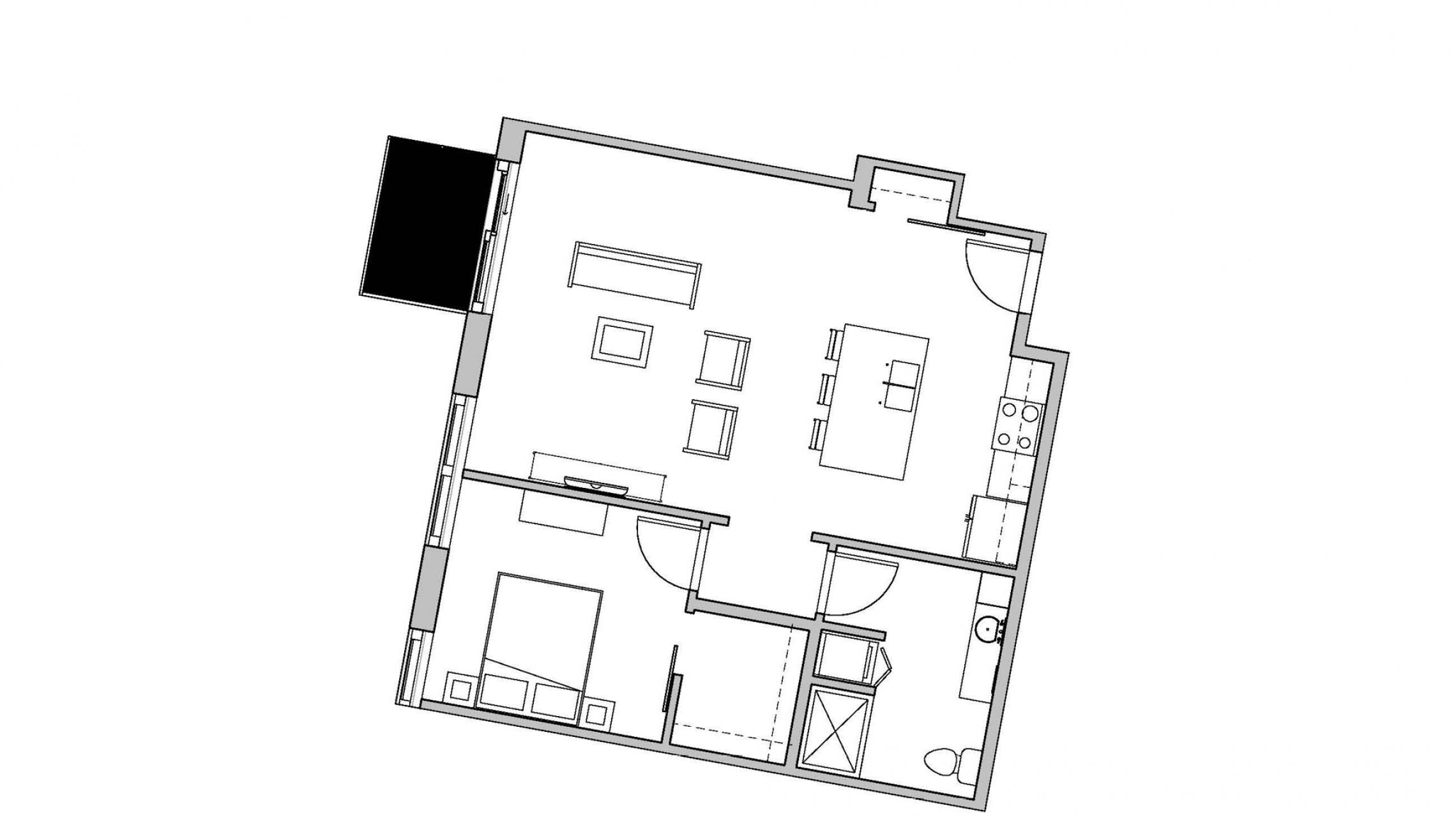 ULI Seven27 430 - One Bedroom, One Bathroom