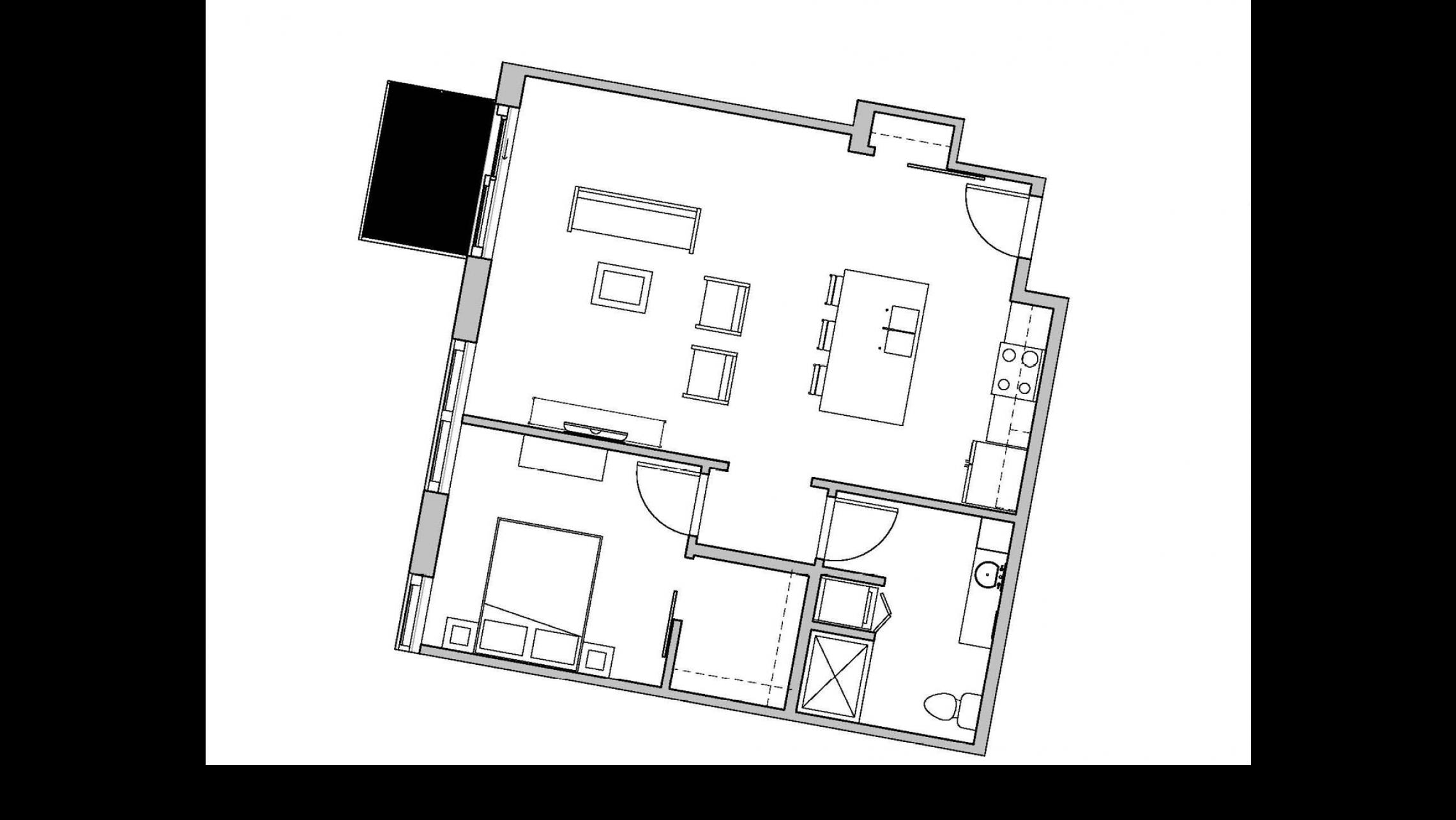 ULI Seven27 433 - One Bedroom, One Bathroom