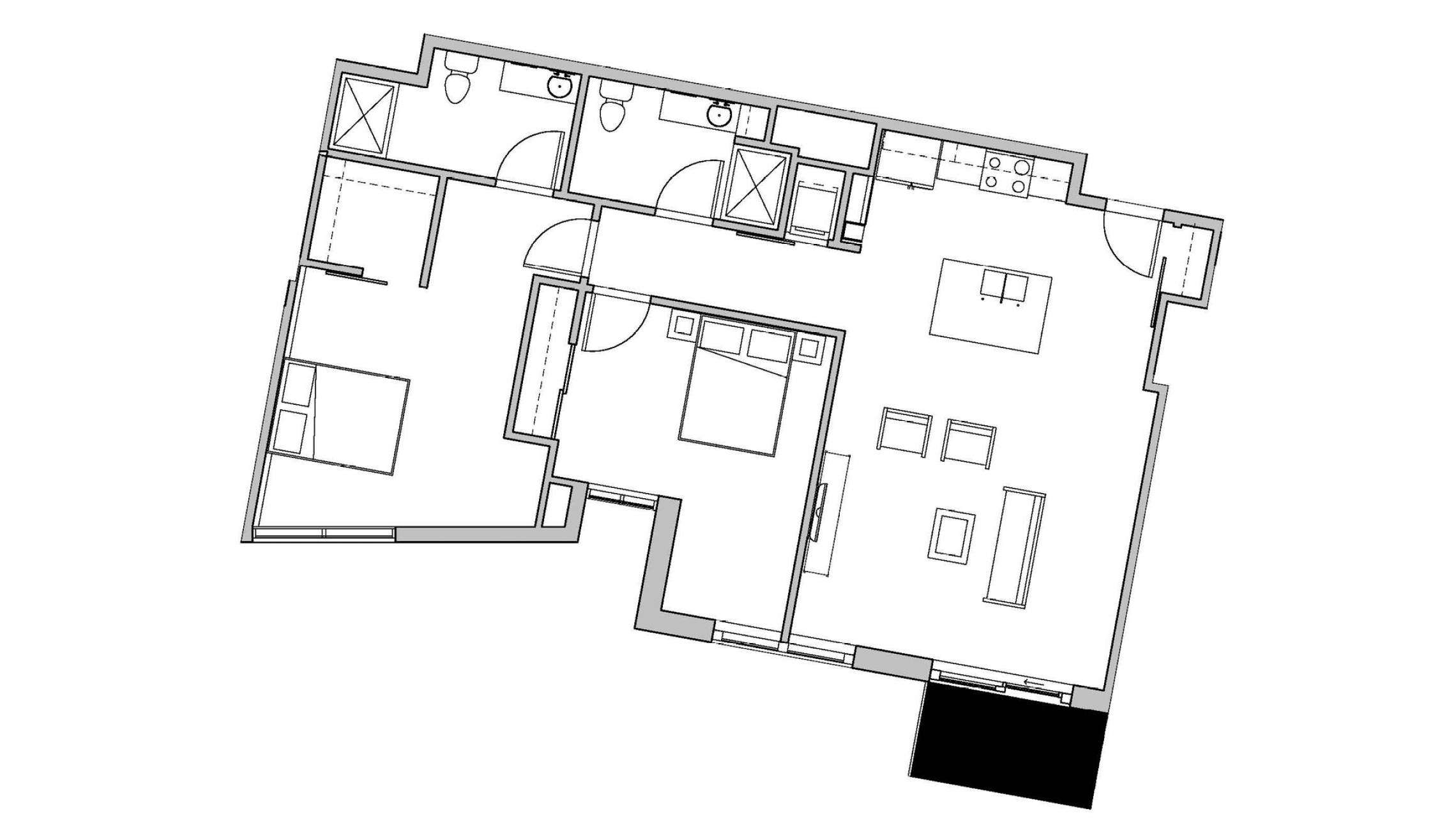ULI Seven27 536 - Two Bedroom, Two Bathroom