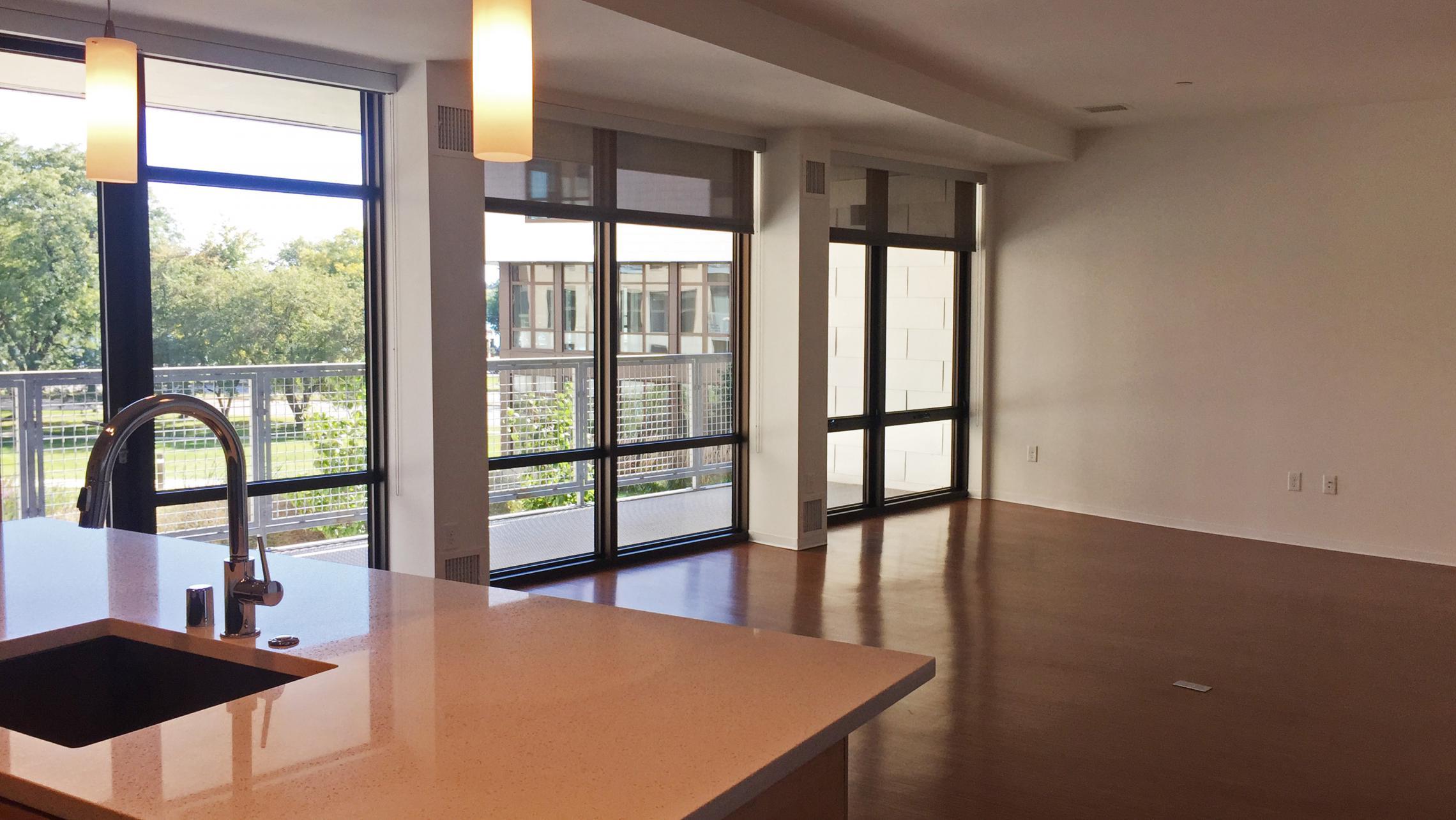 ULI Seven27 Apartment 219 - Living Room Windows