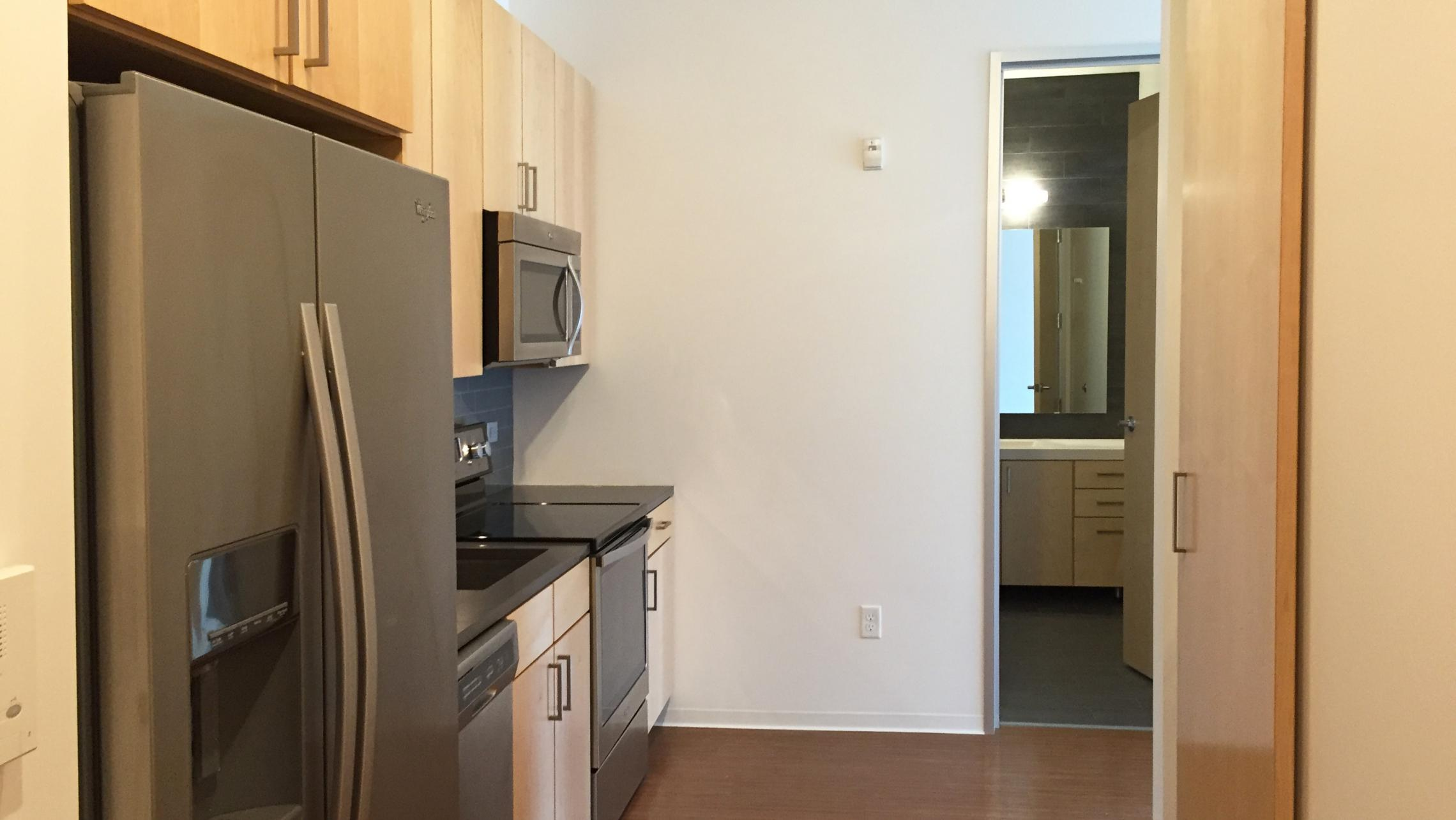 ULI Seven27 Apartment 229 - Kitchen and Bathroom