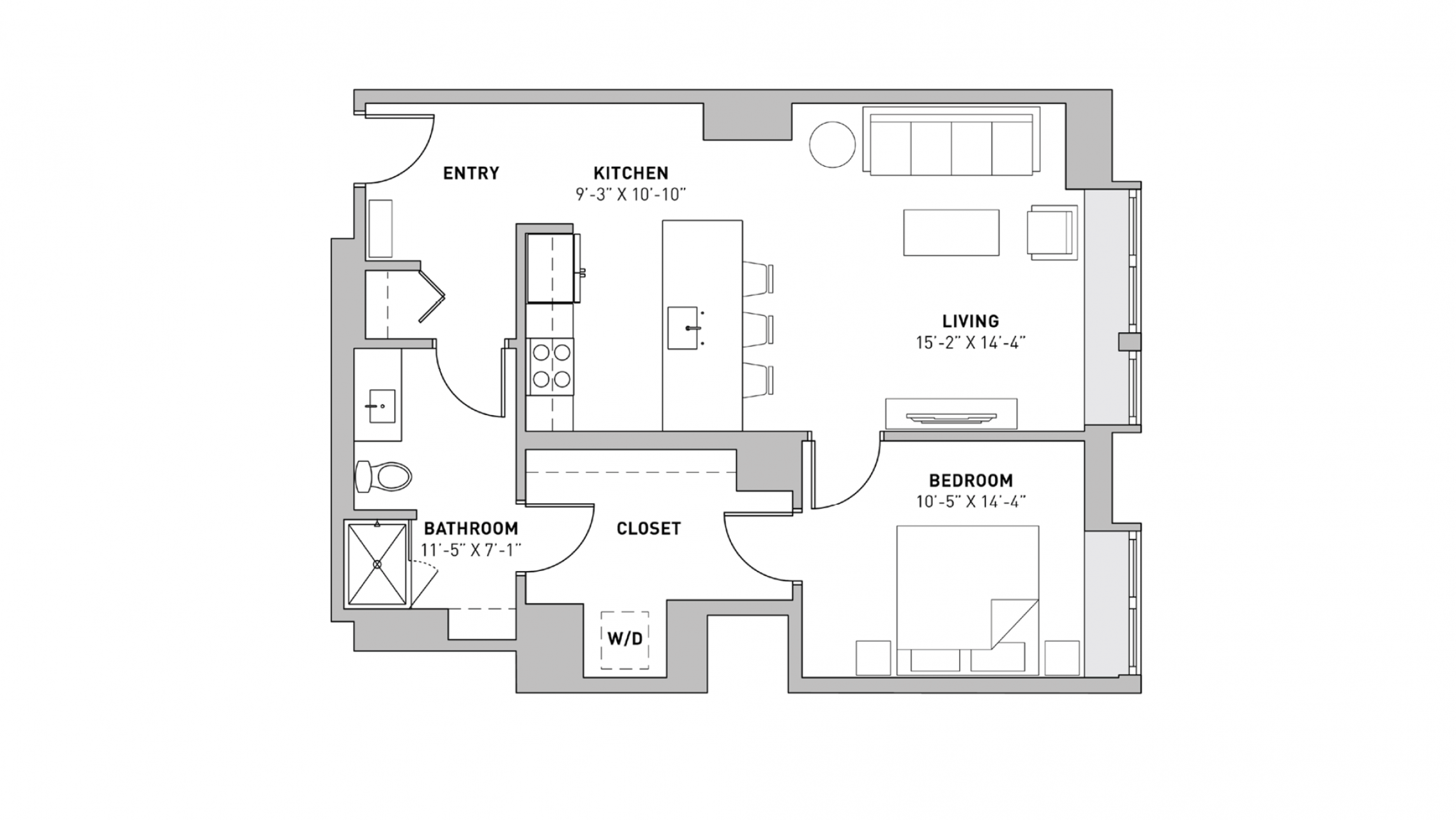 ULI The Pressman 211 - One Bedroom, One Bathroom