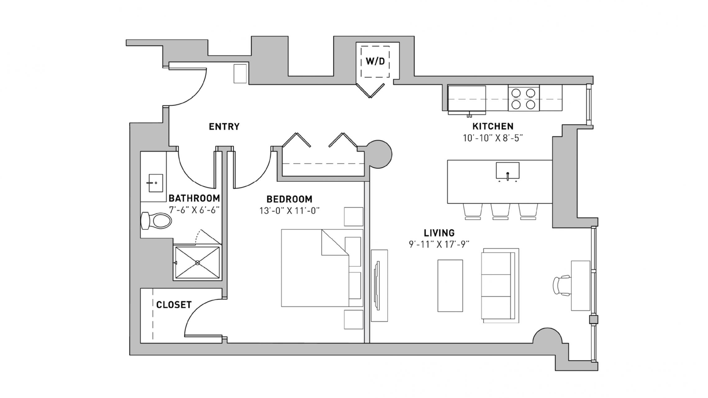 ULI The Pressman 213 - One Bedroom, One Bathroom