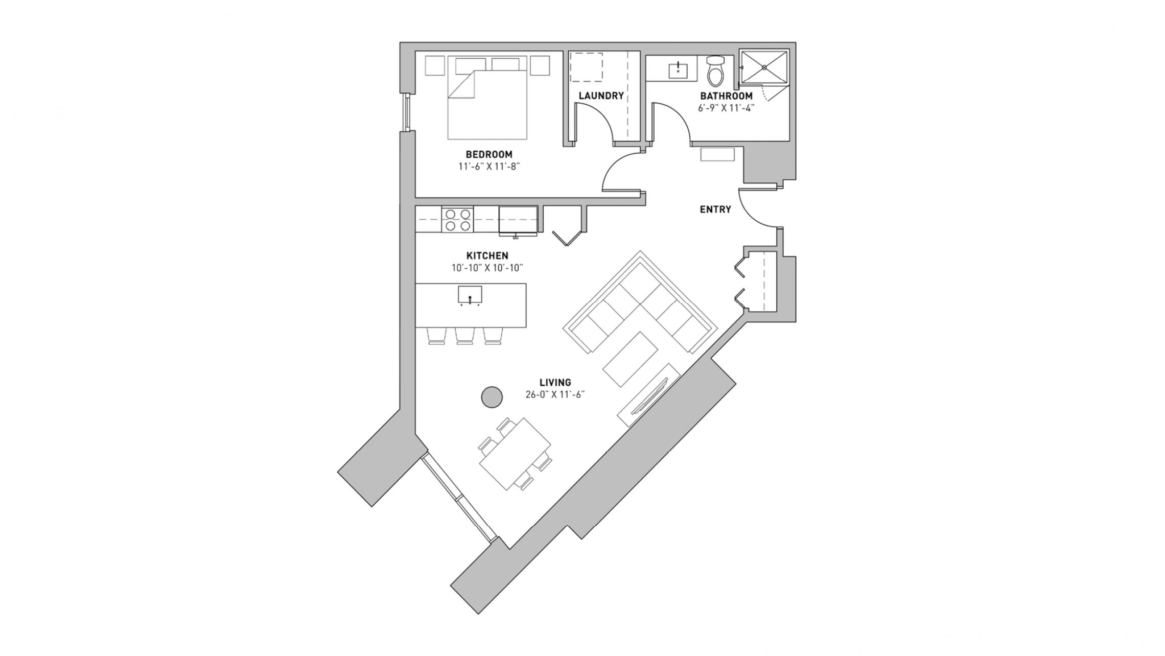 ULI The Pressman 221 - One Bedroom, One Bathroom