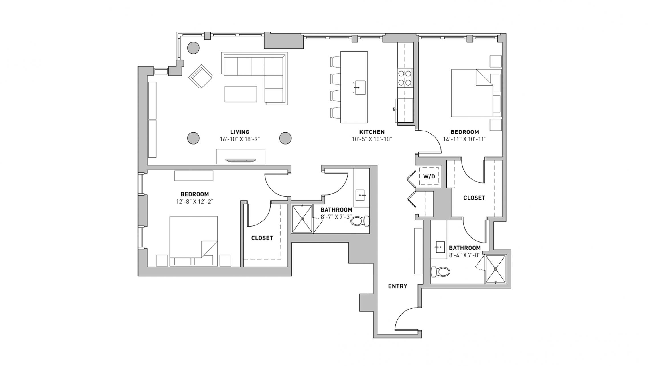 ULI The Pressman 301 - Two Bedroom, Two Bathroom