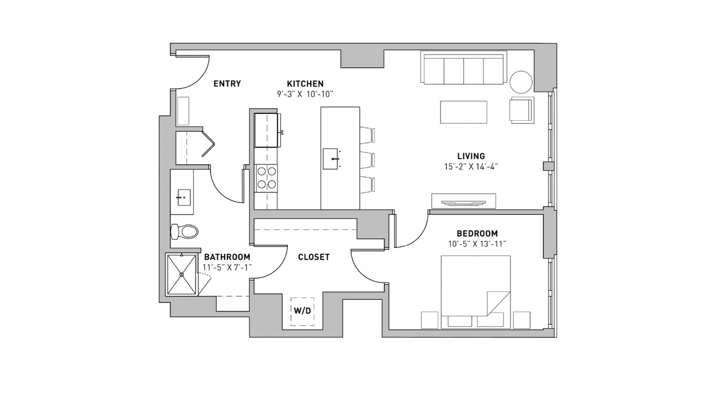 ULI The Pressman 311 - One Bedroom, One Bathroom