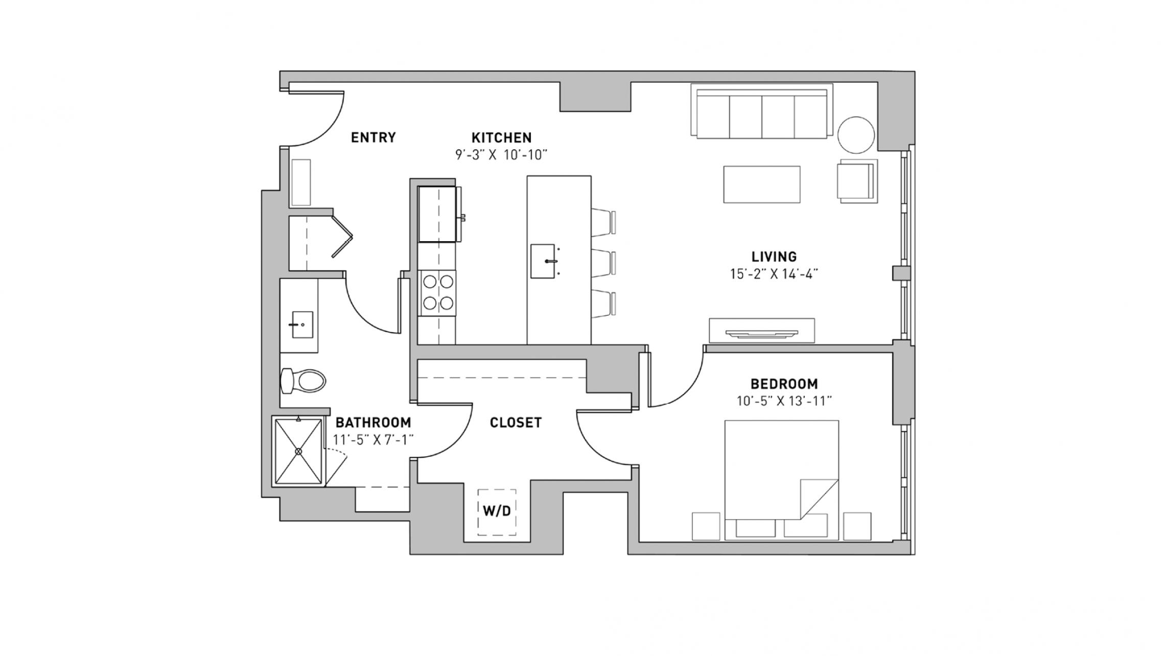 ULI The Pressman 411 - One Bedroom, One Bathroom