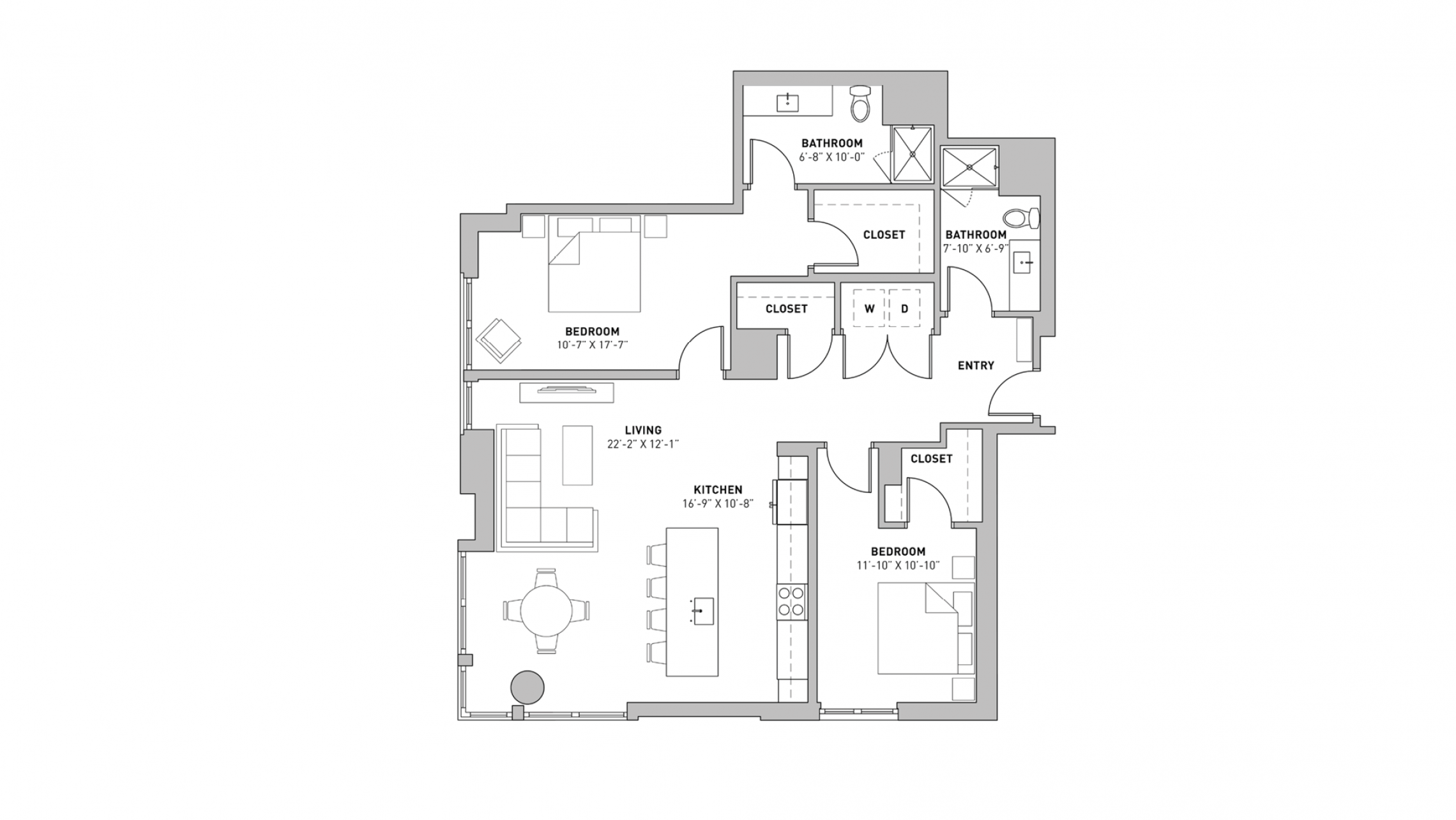 ULI The Pressman 412 - Two Bedroom, Two Bathroom