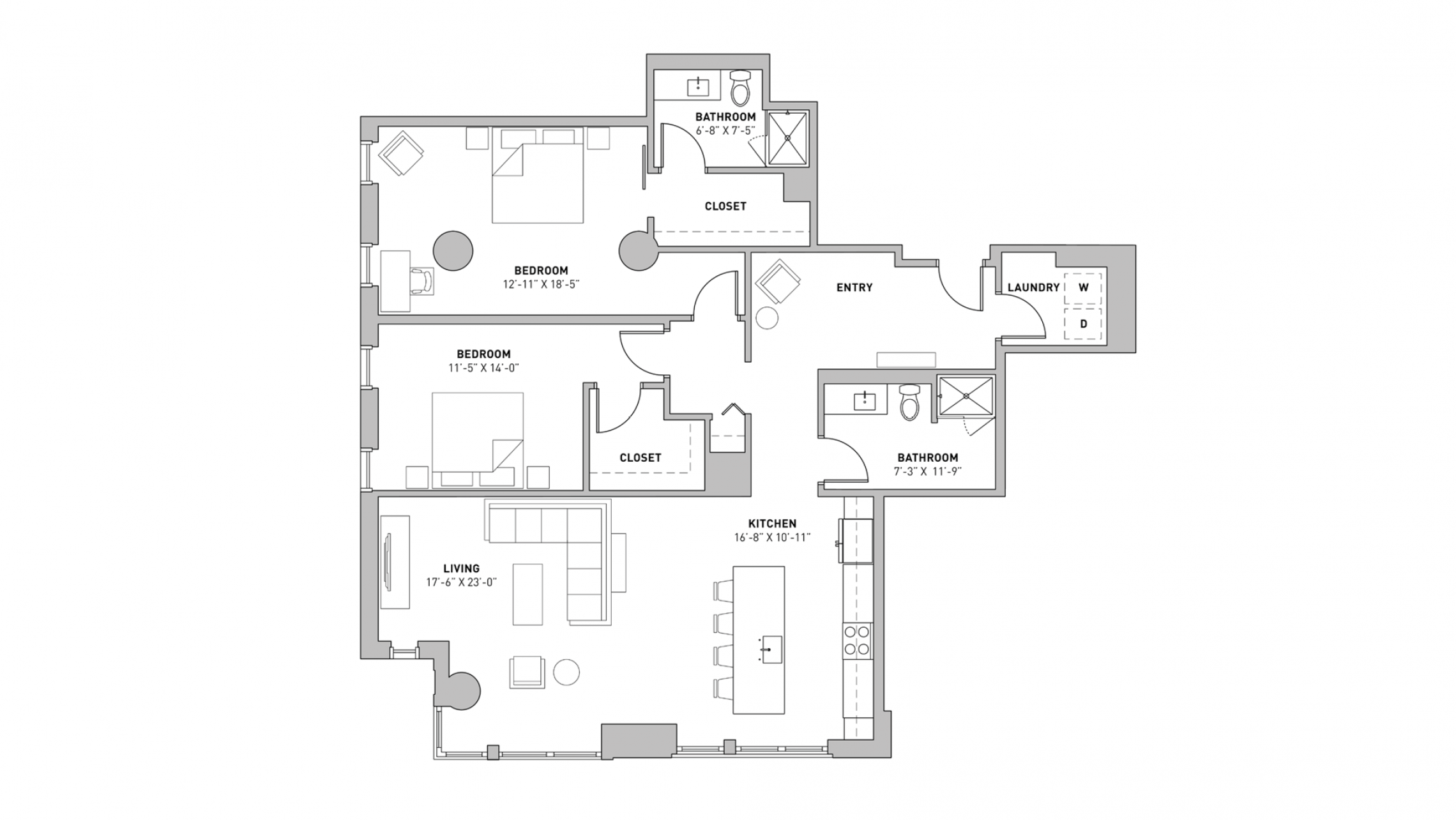 ULI The Pressman 502 - Two Bedroom, Two Bathroom