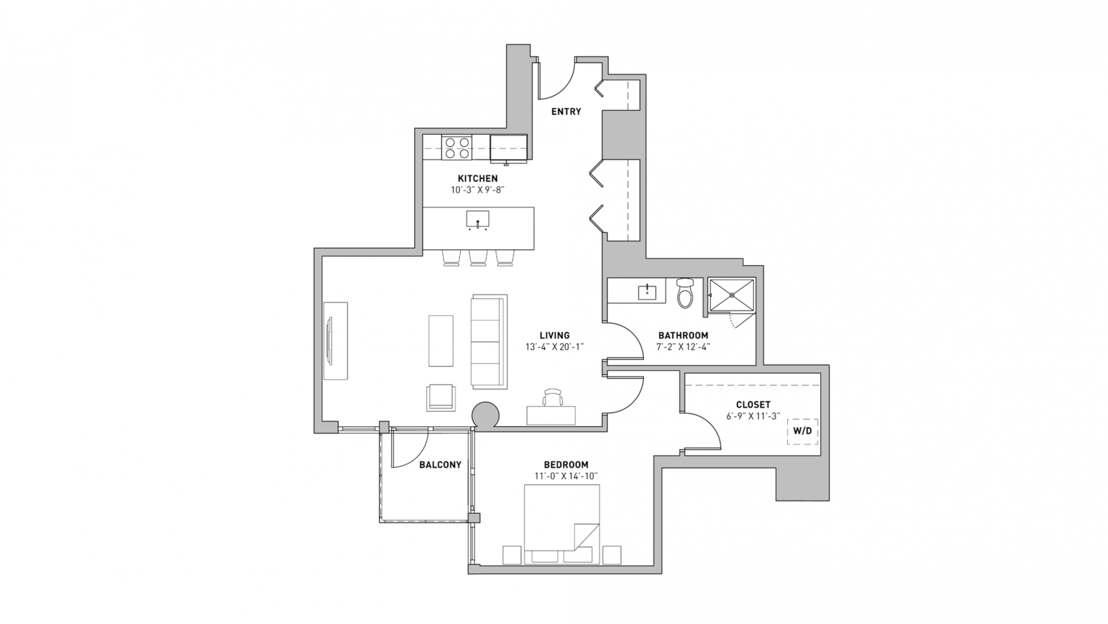 ULI The Pressman 504 - One Bedroom, One Bathroom