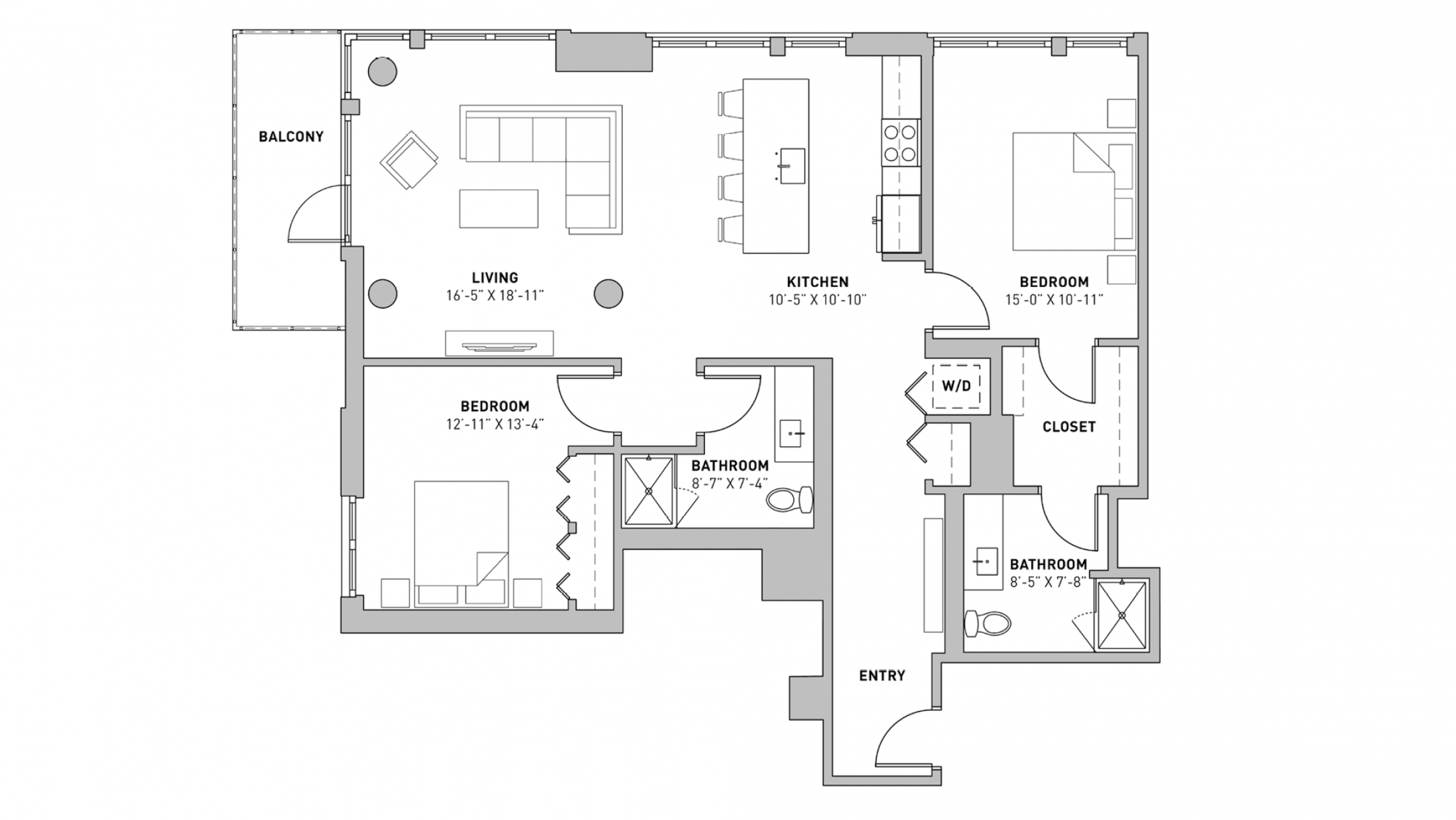 ULI The Pressman 601 - Two Bedroom, Two Bathroom