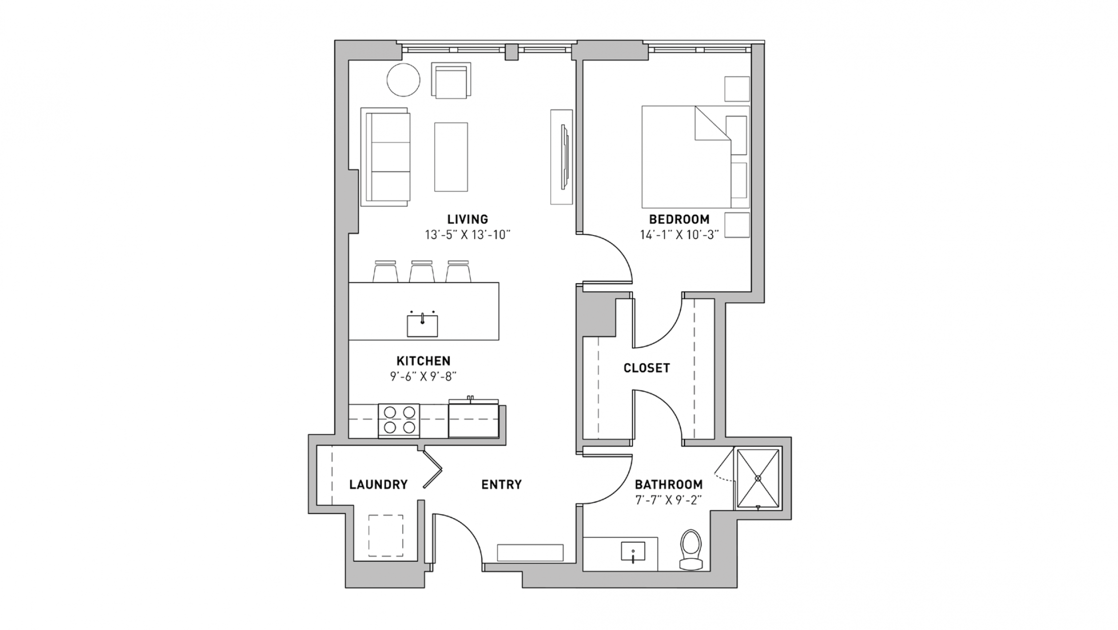 ULI The Pressman 703 - One Bedroom, One Bathroom