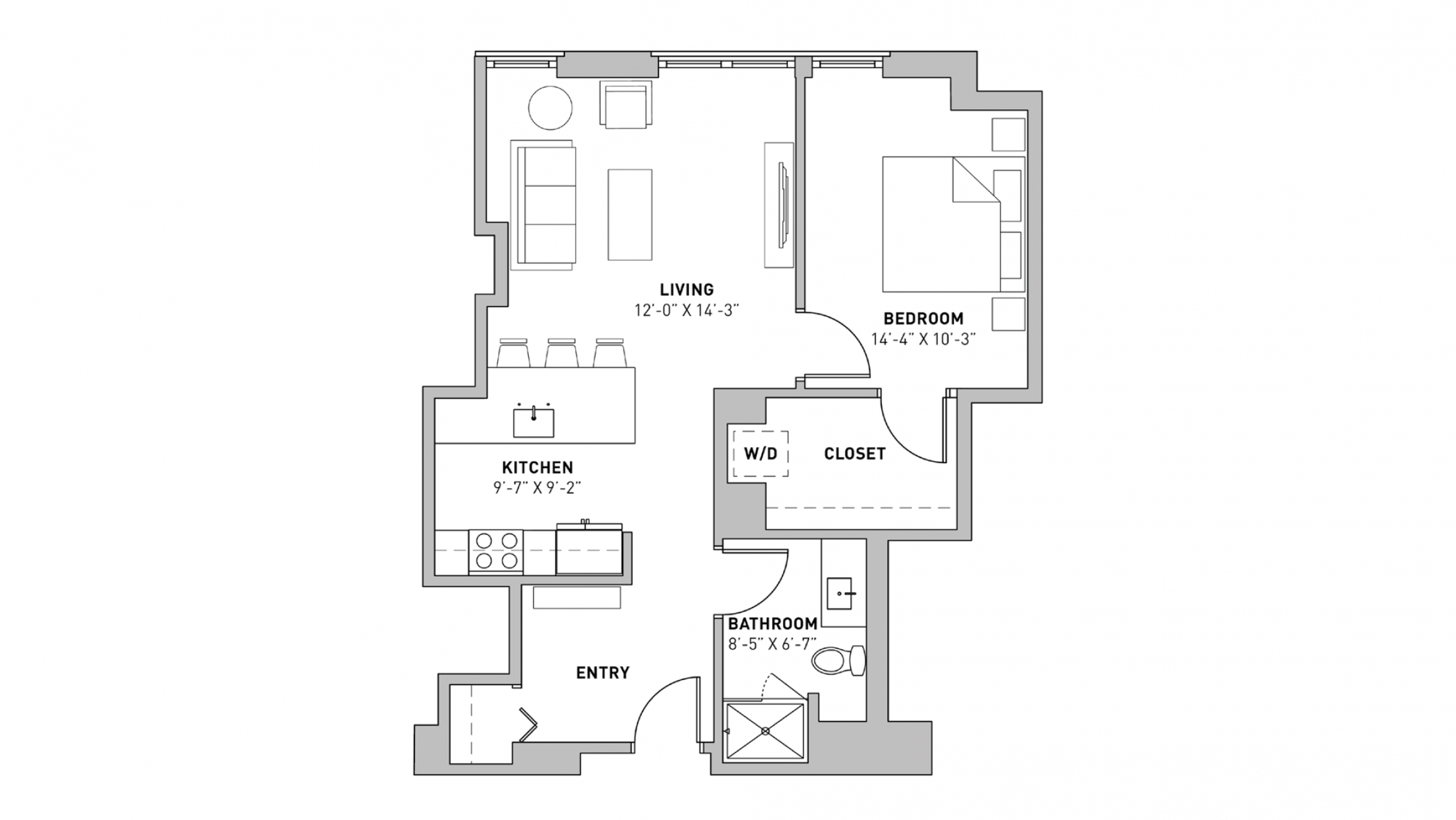 ULI The Pressman 705 - One Bedroom, One Bathroom