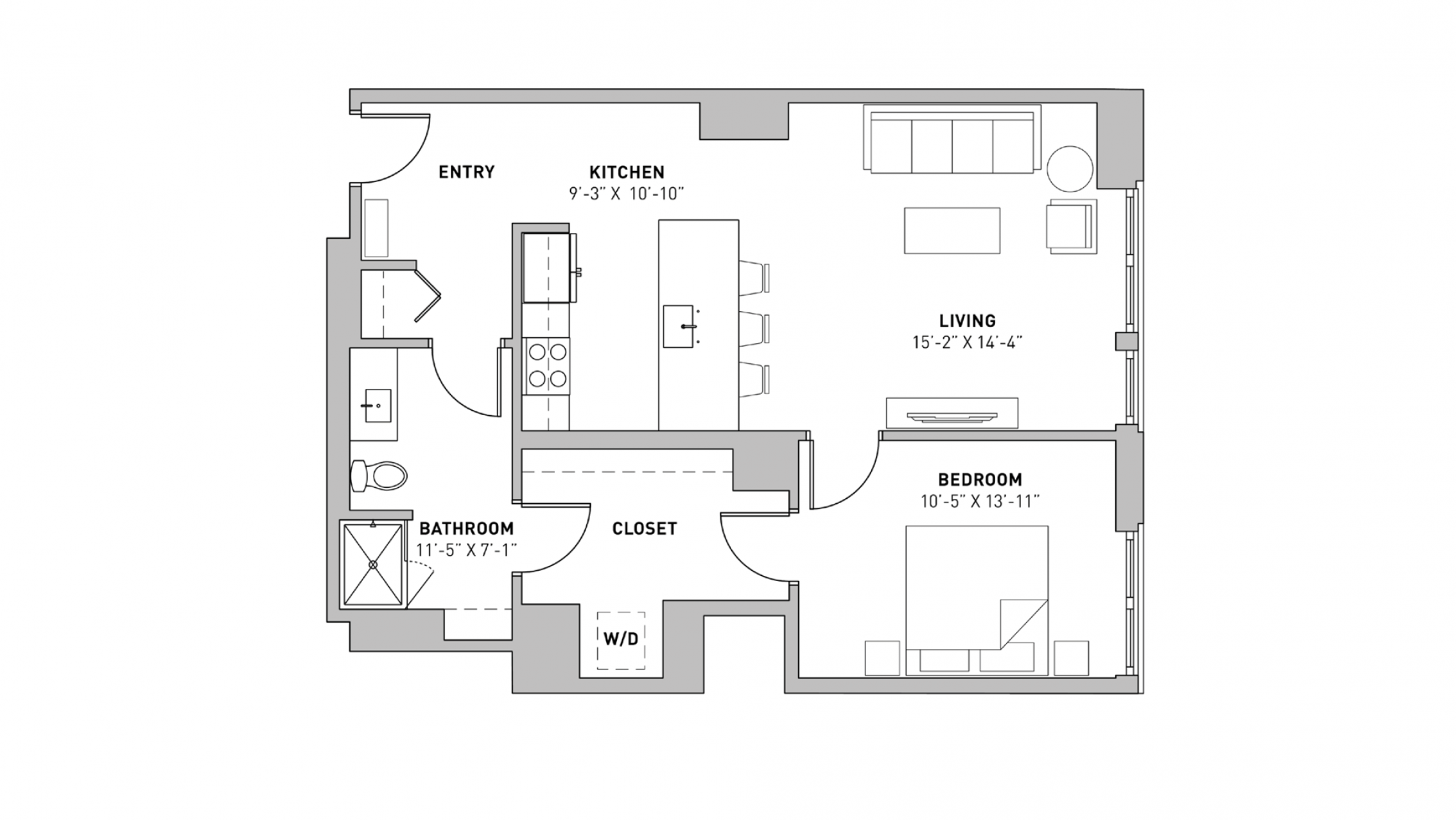 ULI The Pressman 711 - One Bedroom, One Bathroom