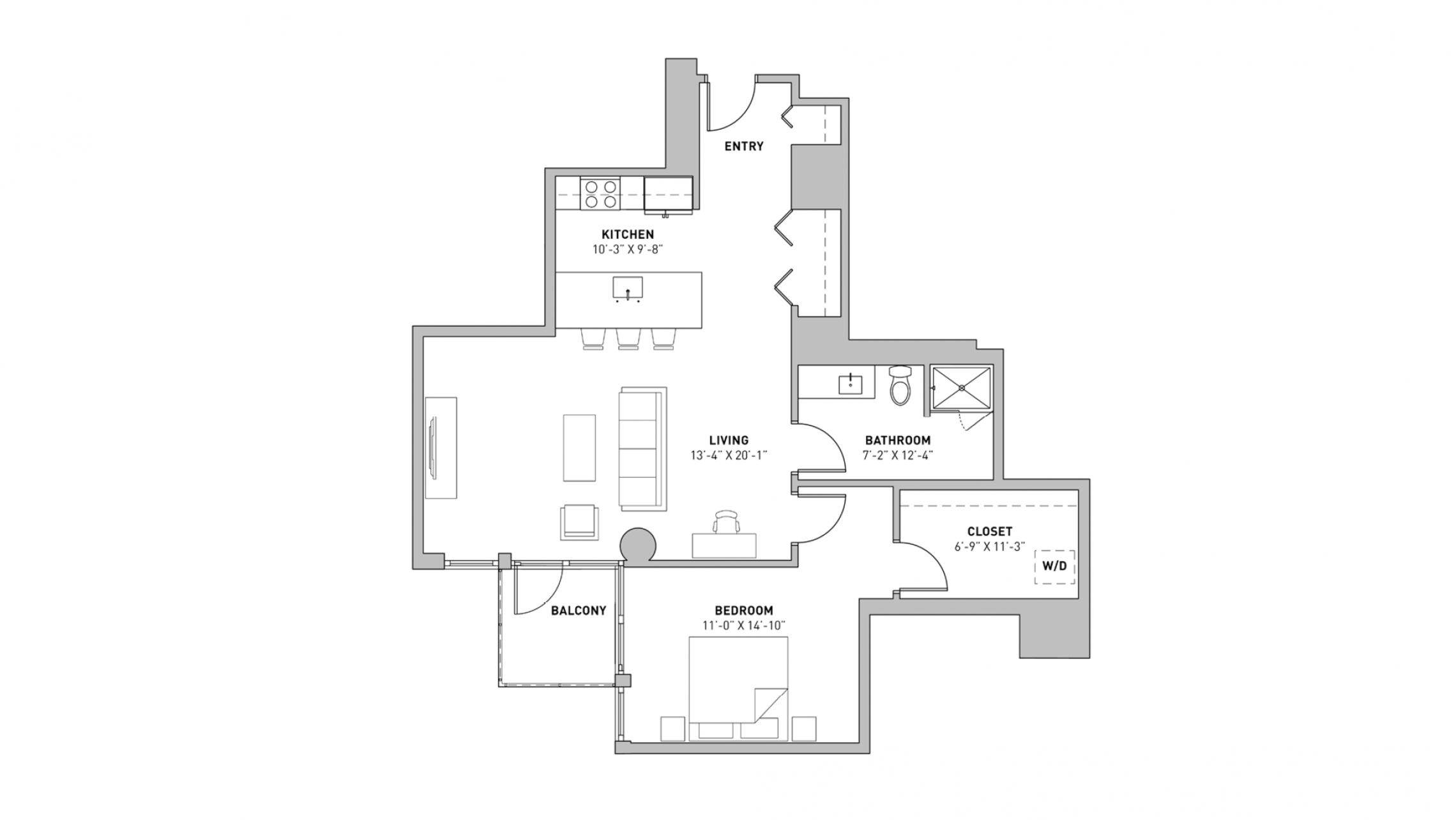 ULI The Pressman 804 - One Bedroom, One Bathroom