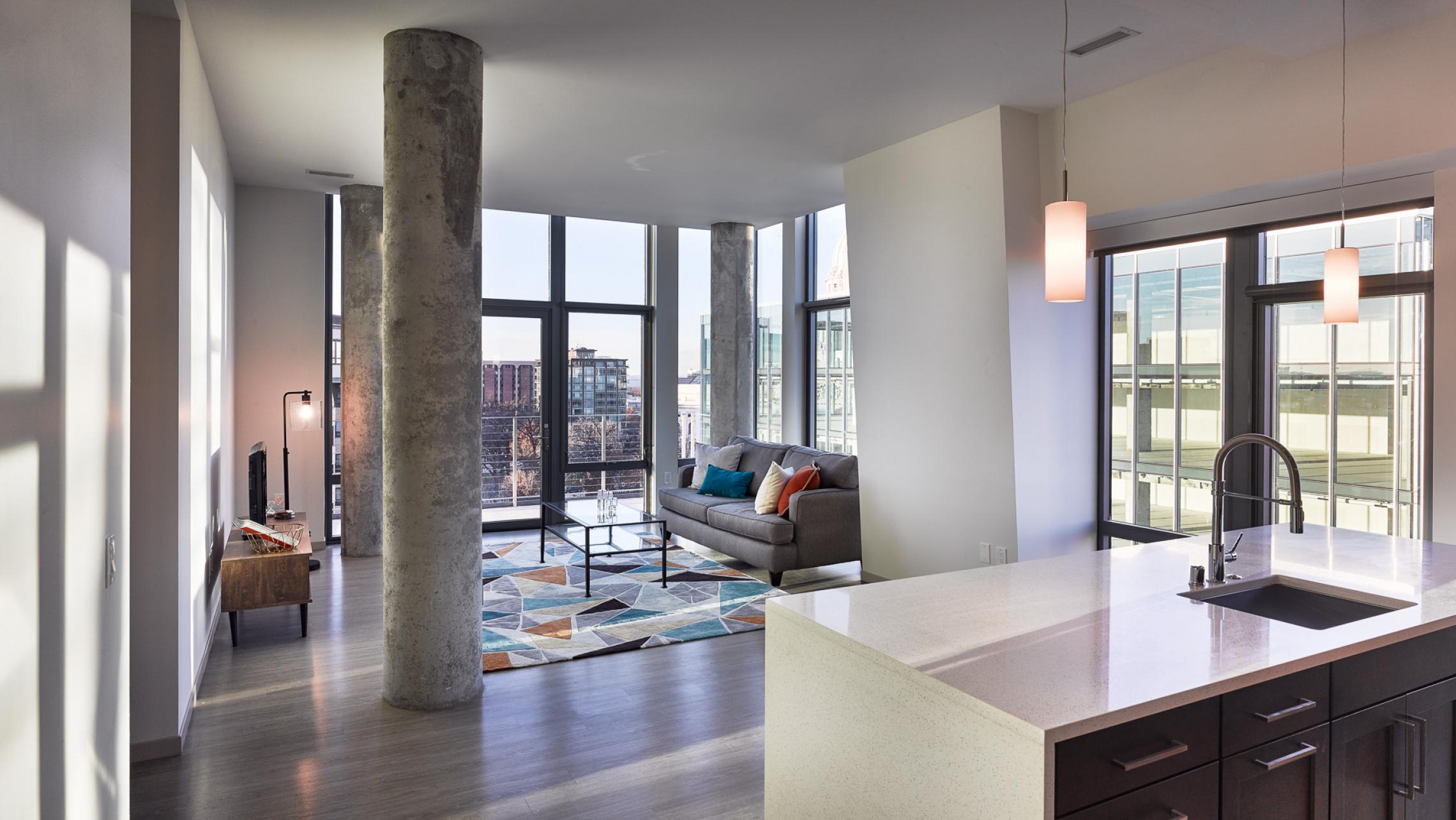 ULI The Pressman - Living Room with Capitol View