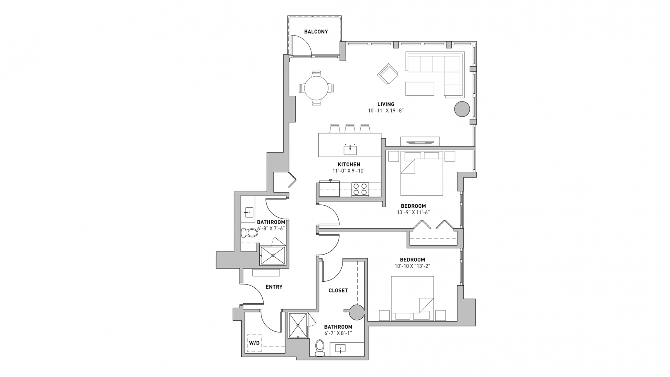 ULI The Pressman 607 - Two Bedroom, Two Bathroom