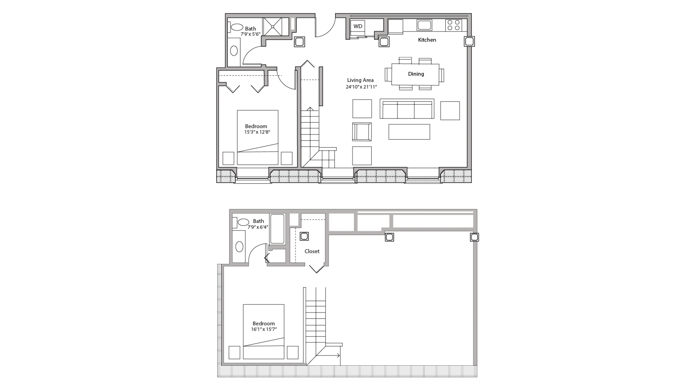 ULI Tobacco Lofts E204 - Two Bedroom, Two Bathroom