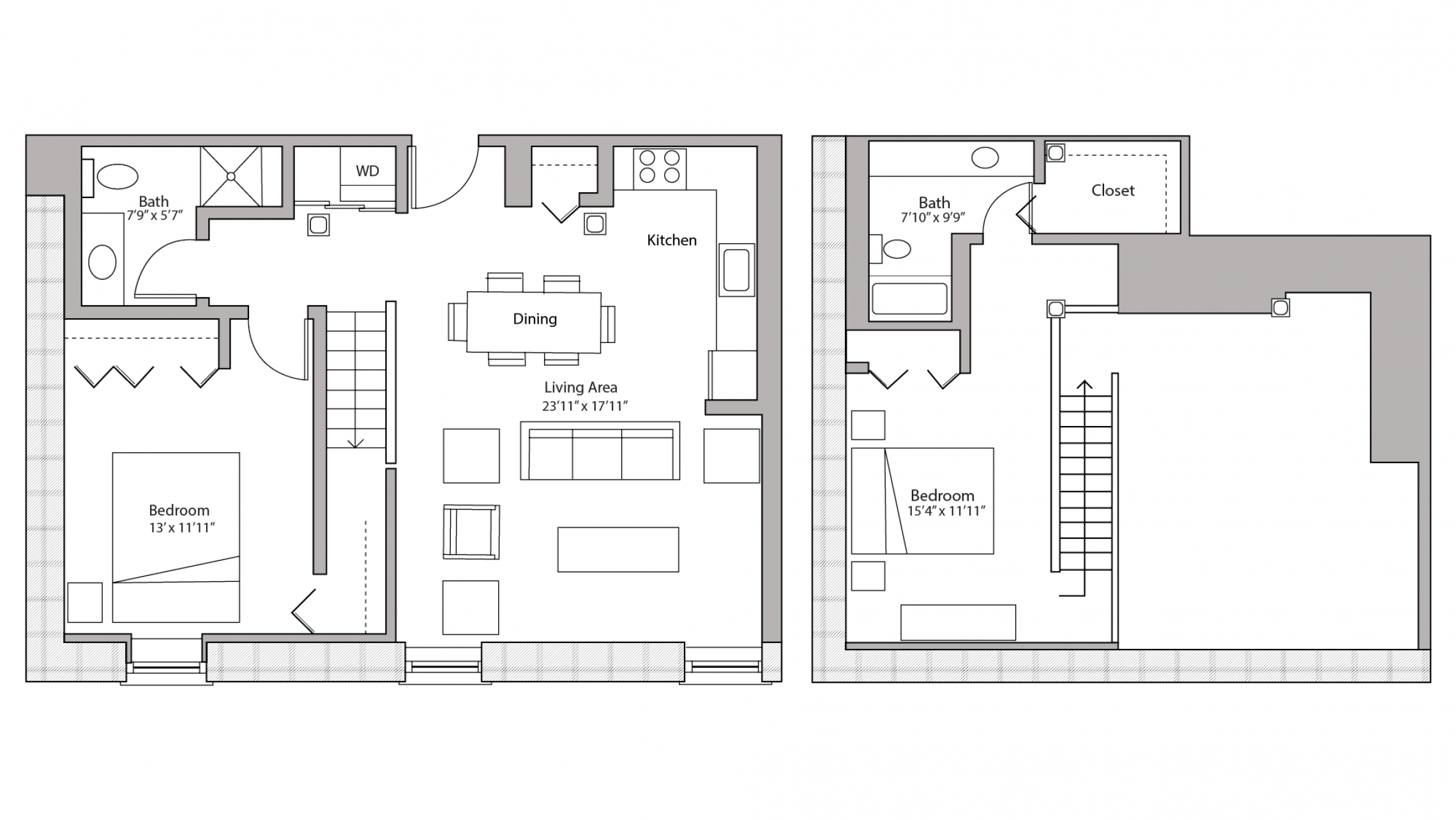 ULI Tobacco Lofts E206 - Two Bedroom, Two Bathroom