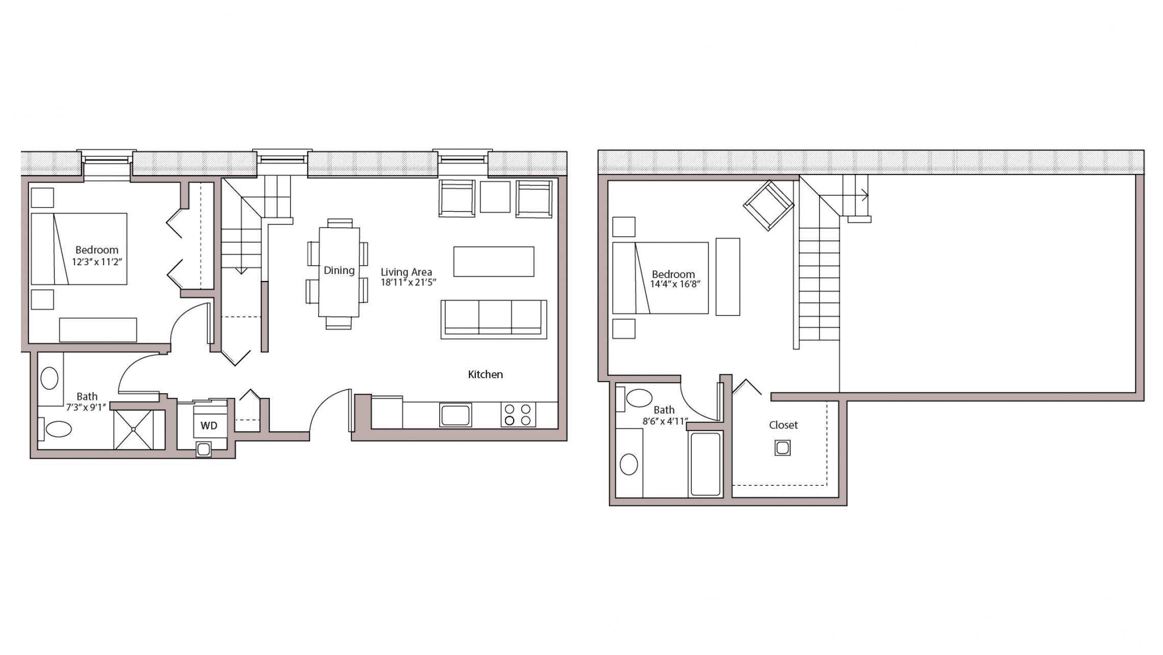 ULI Tobacco Lofts E305 - Two Bedroom, Two Bathroom