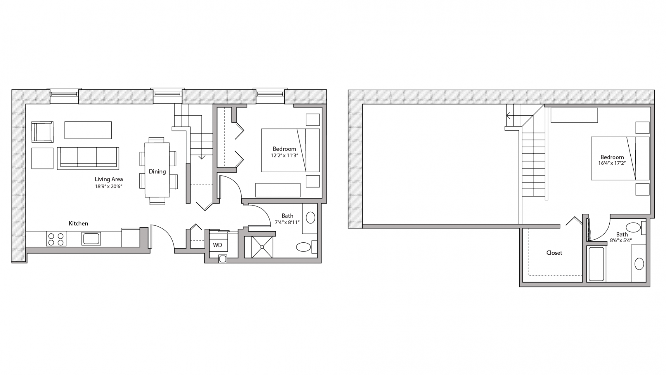 ULI Tobacco Lofts E207 - Two Bedroom, Two Bathroom