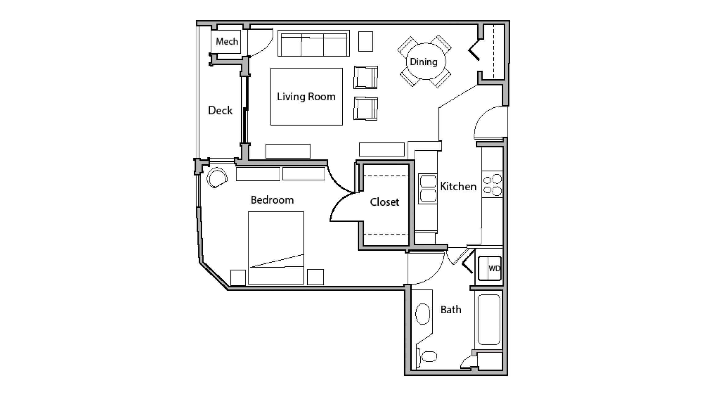 ULI Wilson Bay 103 - One Bedroom, One Bathroom