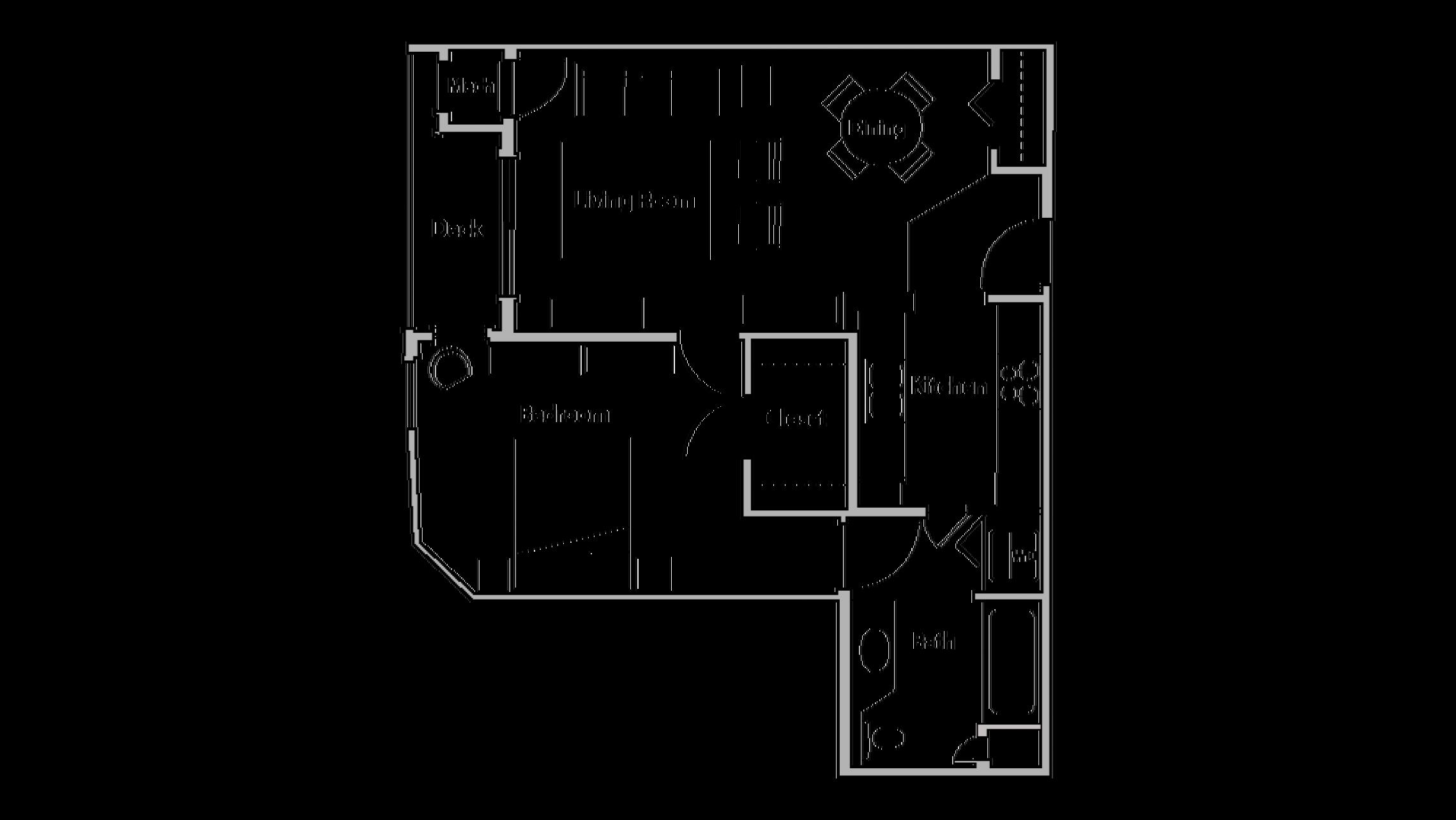 ULI Wilson Bay 303 - One Bedroom, One Bathroom