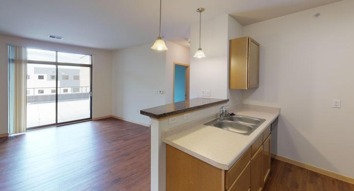 The-Depot-Apartment-1-214-Kitchen-One-Bedroom-Downtown-Madison-Balcony-Fitness-Terrace
